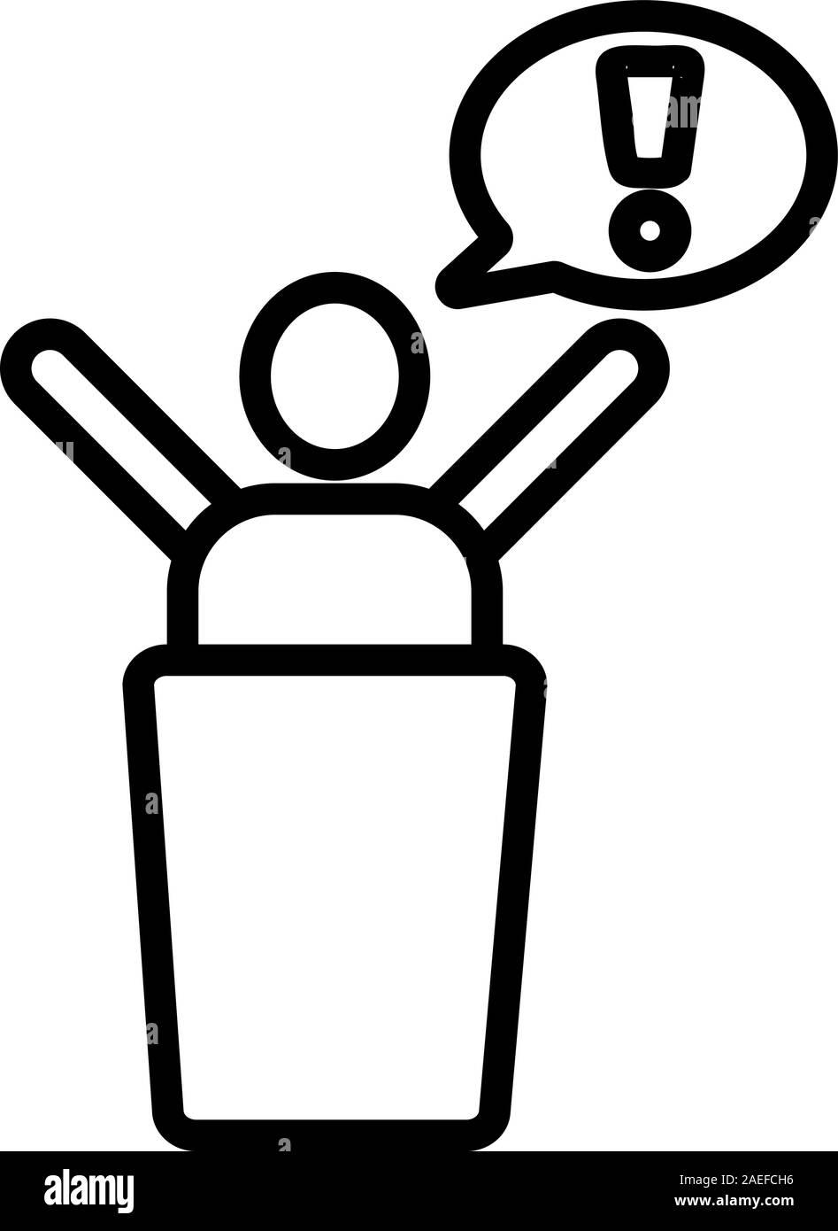 public protest icon vector. Isolated contour symbol illustration Stock Vector