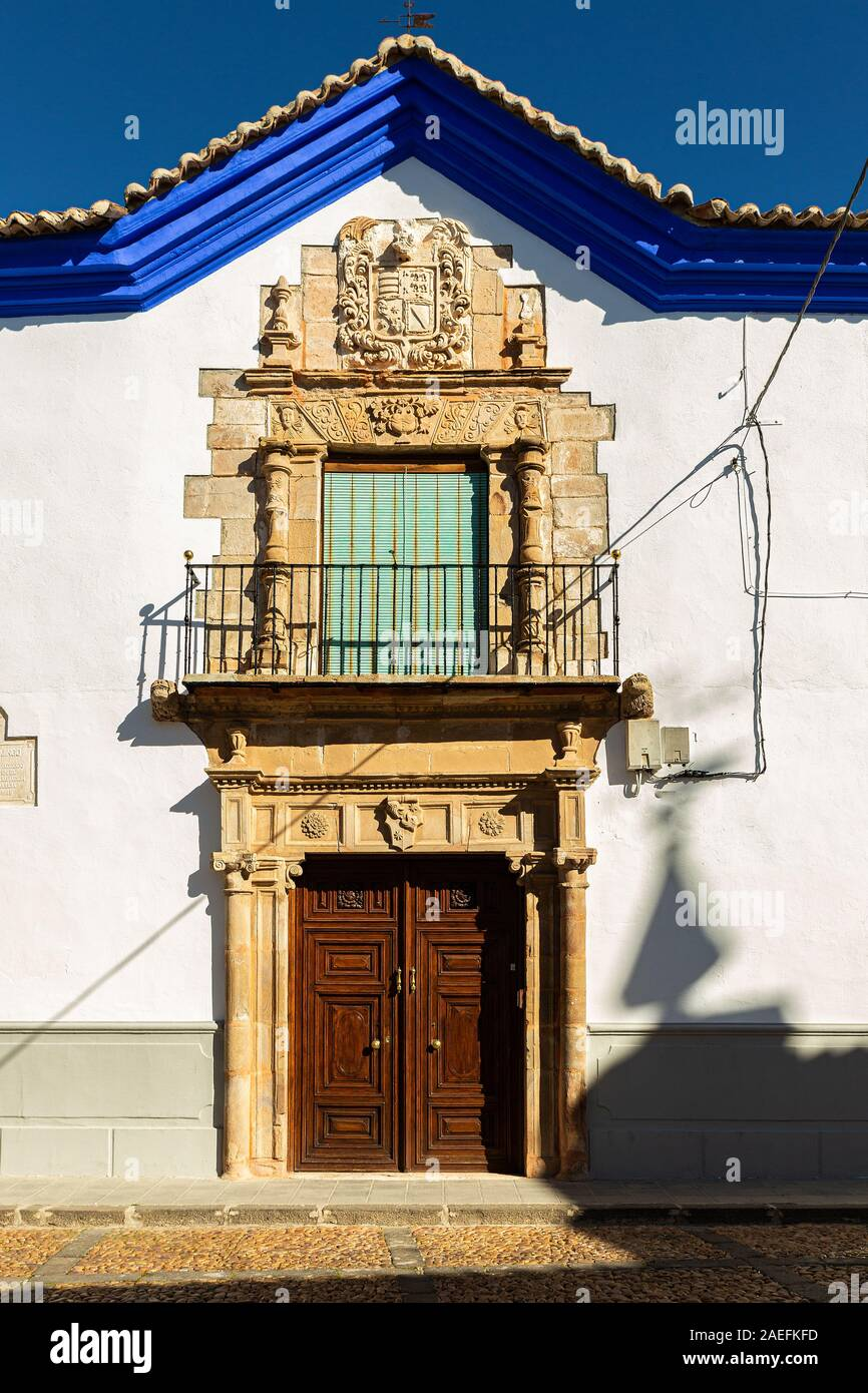 Door and facade located in the historic town of Almagro. Spain. Stock Photo