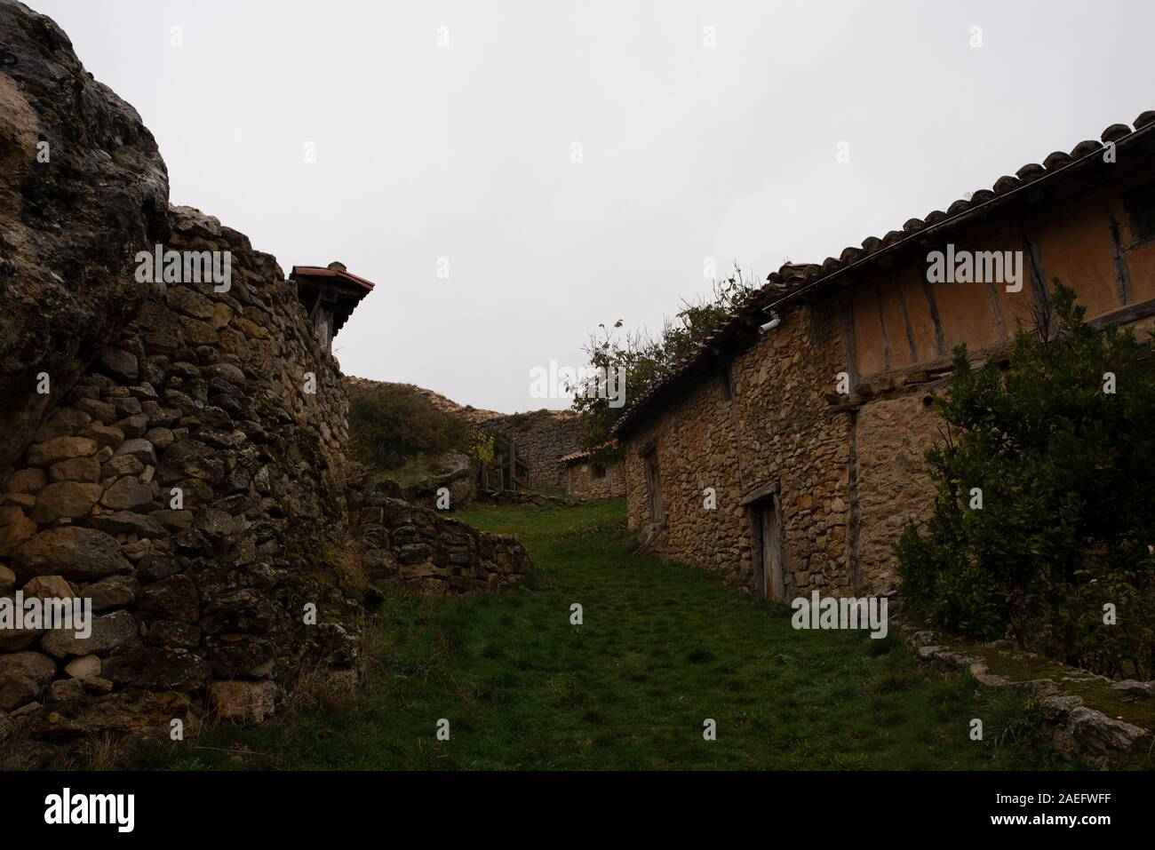 The medieval village of Calatanazor in Soria, Spain Stock Photo