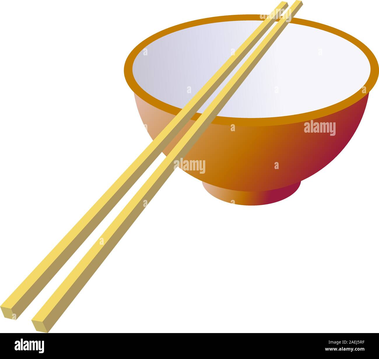 Ceramic mug with wooden sticks. Vector illustration. Stock Vector
