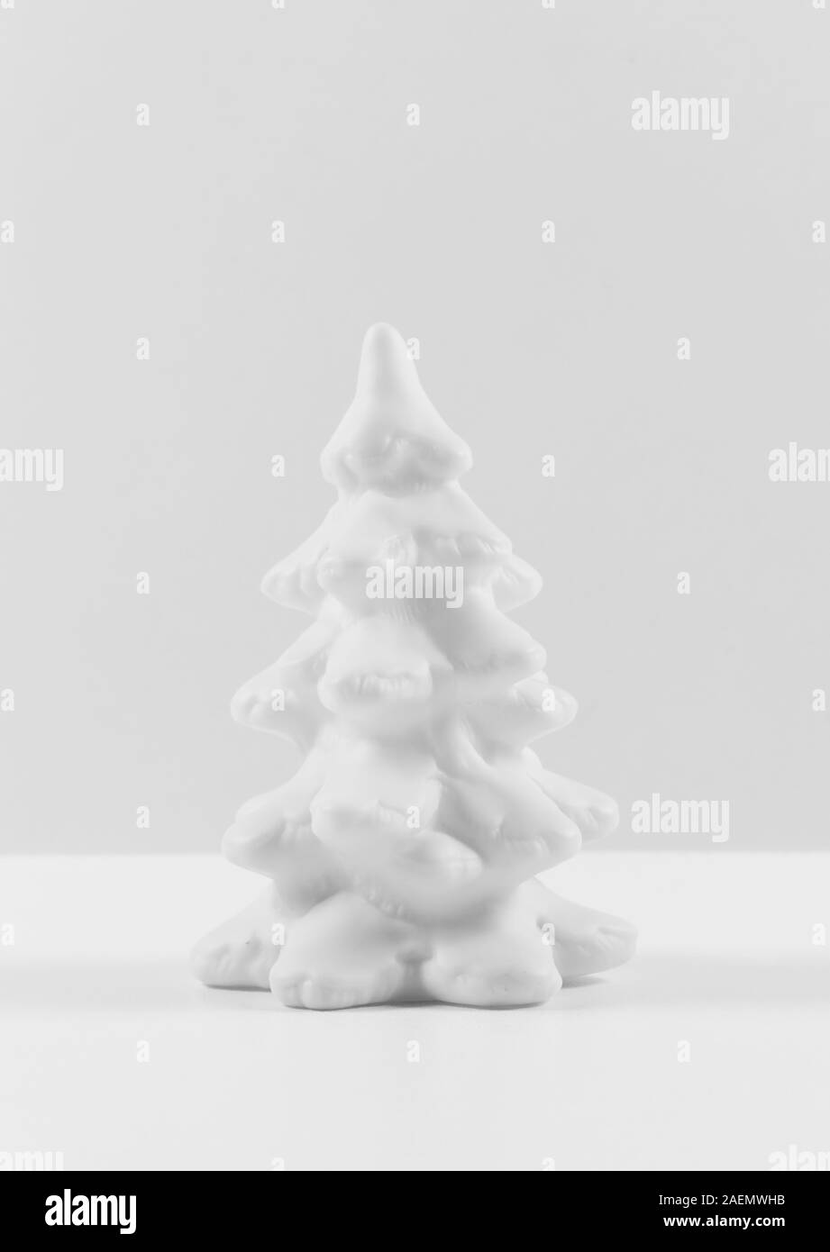Amazing Monochrome Christmas Tree In Gray Colors Palette New Year Card Minimalism Concept Stock Photo Alamy