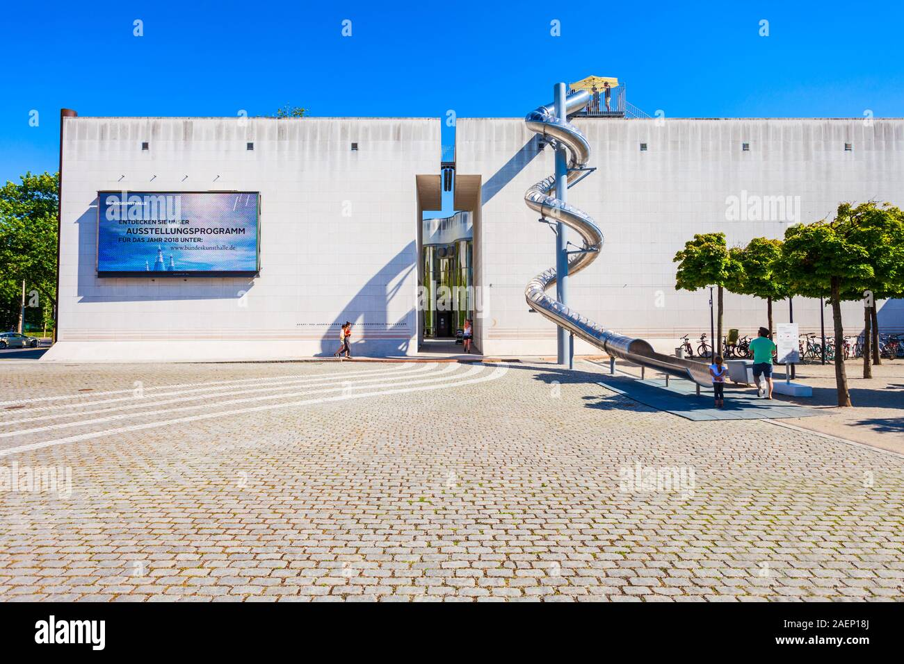 BONN, GERMANY - JUNE 29, 2018: Bundeskunsthalle or federal art and exhibition hall in Bonn city, Germany Stock Photo