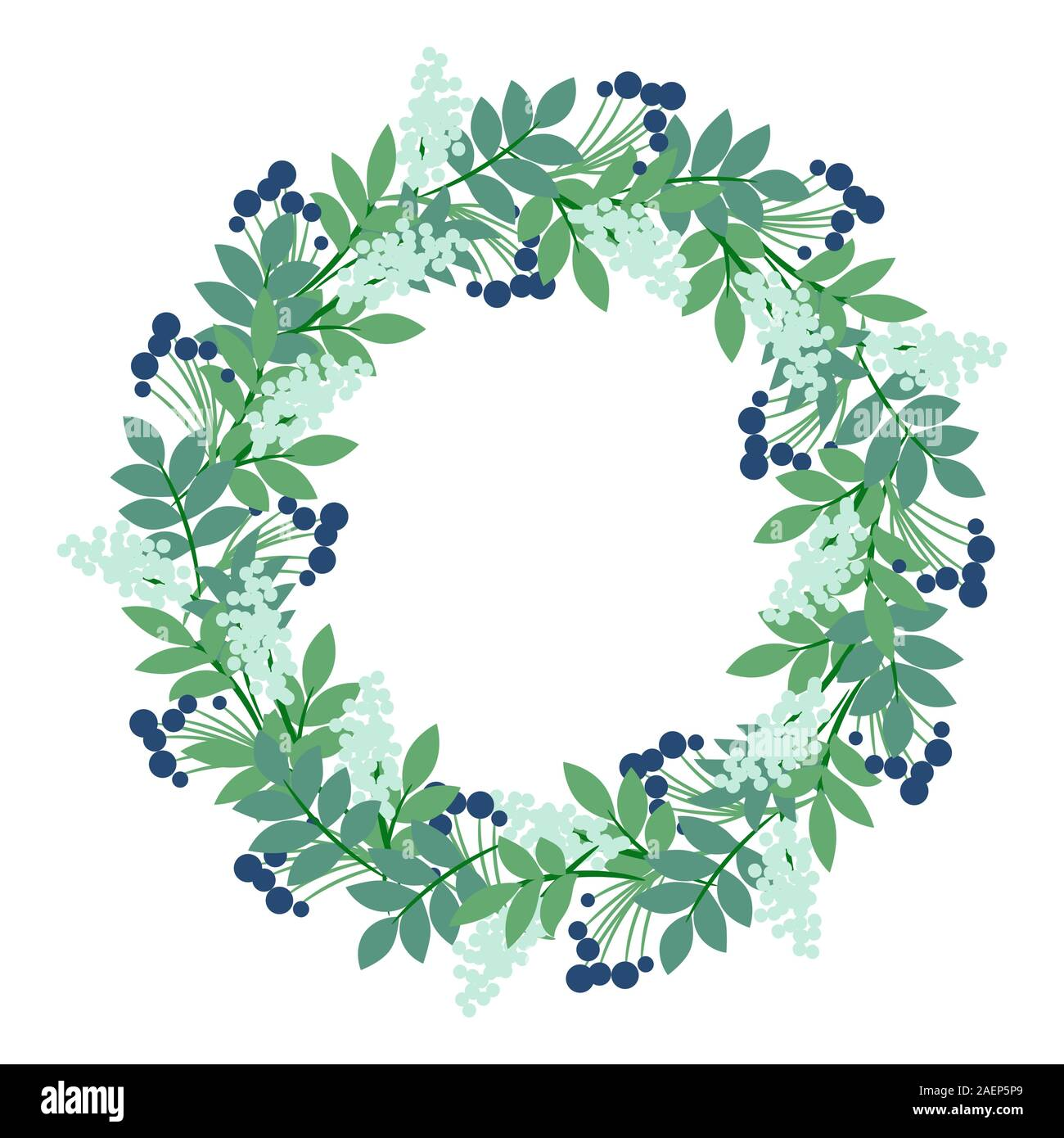 Floral wreath vector clipart illustration. Flower garland for craft and scrapbook. Stock Vector