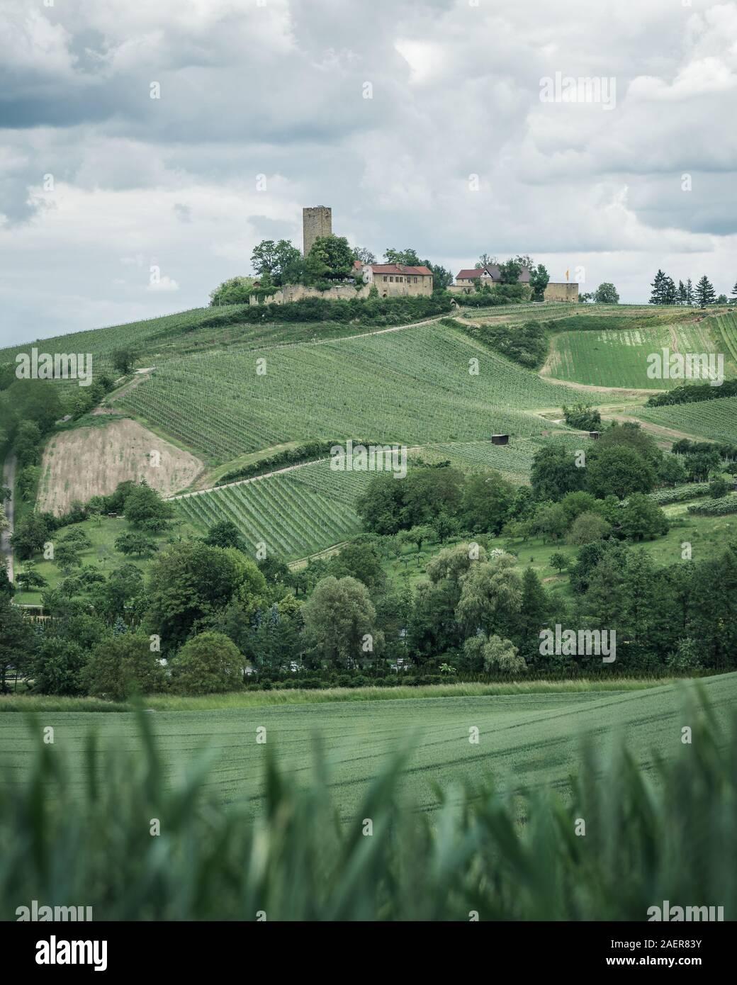 Die Burg Ravensburg in der Nähe von Sulzfeld im Naturpark Stromberg Heuchelberg Stock Photo