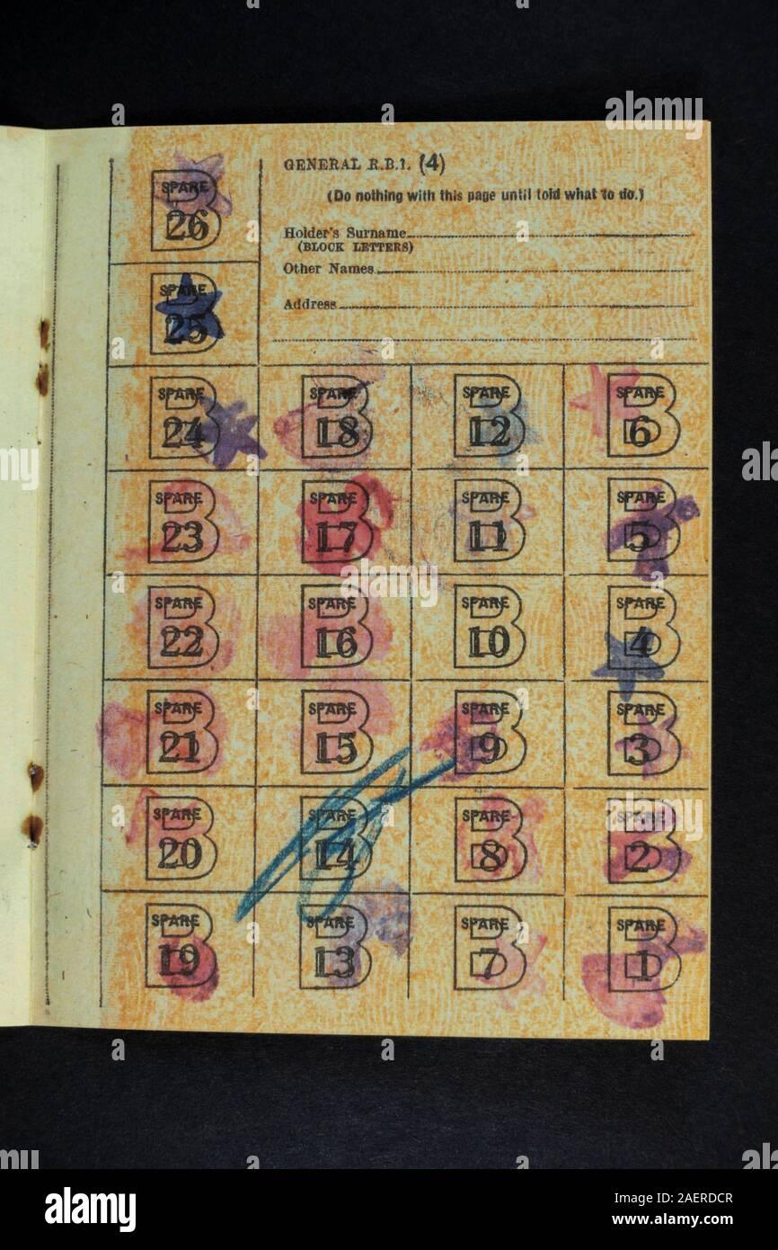 1940s//WW2 Blitz memorabilia Museum quality REPLICA RATION BOOK-ID CARD