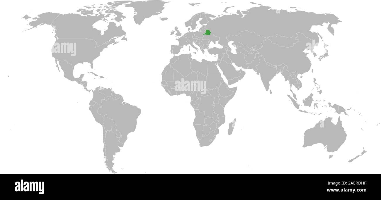 Picture of: Belarus Map Marked Green On World Map Vector Gray Background European Country Great For Business Concept Backgrounds Backdrop And Wallpapers Stock Vector Image Art Alamy