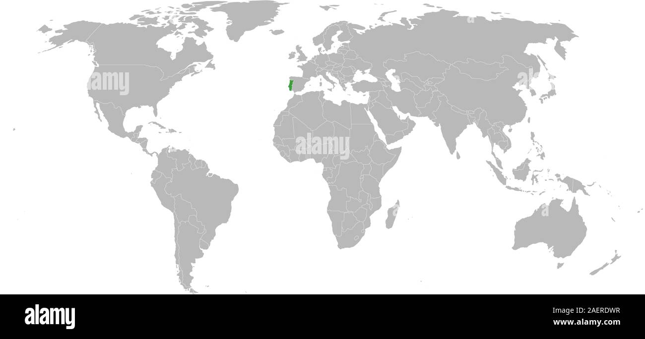 Picture of: Portugal Marked Green On World Map Vector Illustration Perfect For Backgrounds Backdrop Business Concepts Wallpapers Etc Stock Vector Image Art Alamy