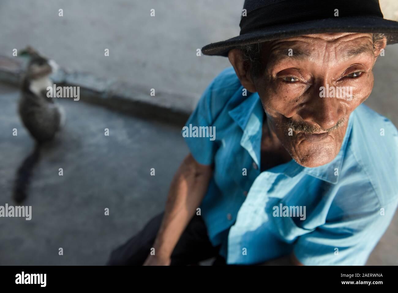 Old man in Juazeiro do Norte, northeast Brazil Stock Photo