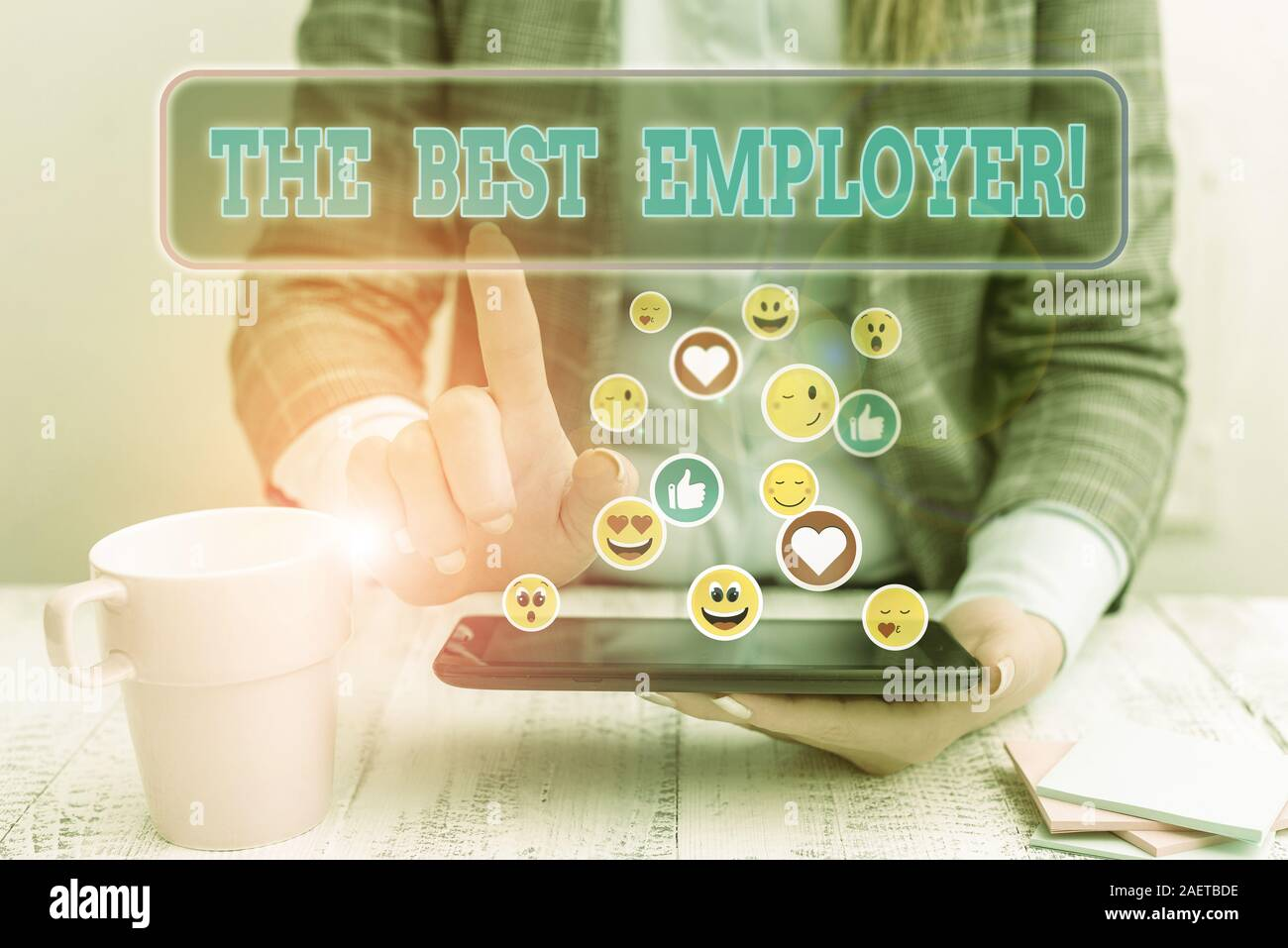 Handwriting text The Best Employer. Conceptual photo created workplace showing feel heard and empowered Stock Photo
