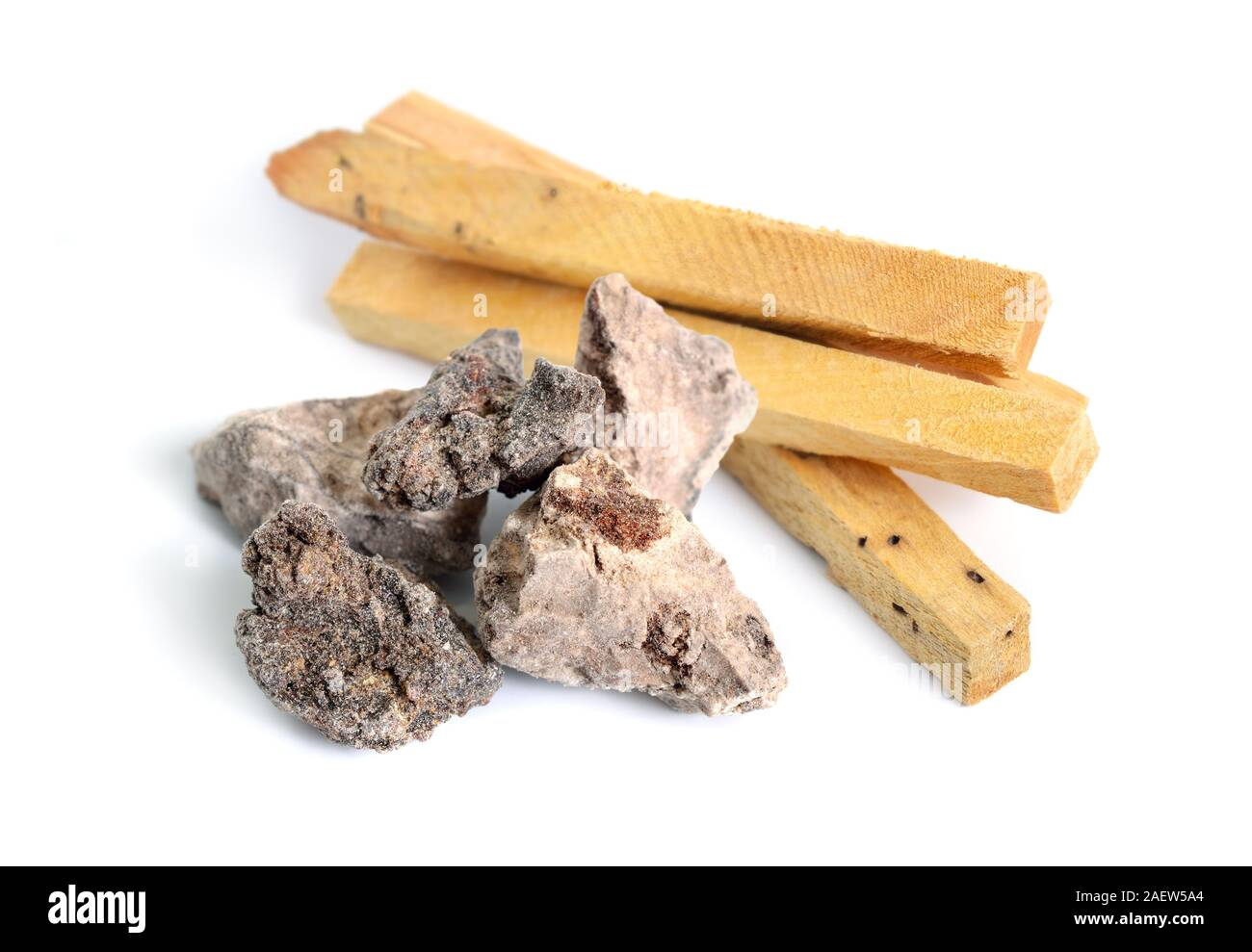 Palo Santo Holy Wood Sticks Wit Incense Resin Isolated On White Background Stock Photo Alamy