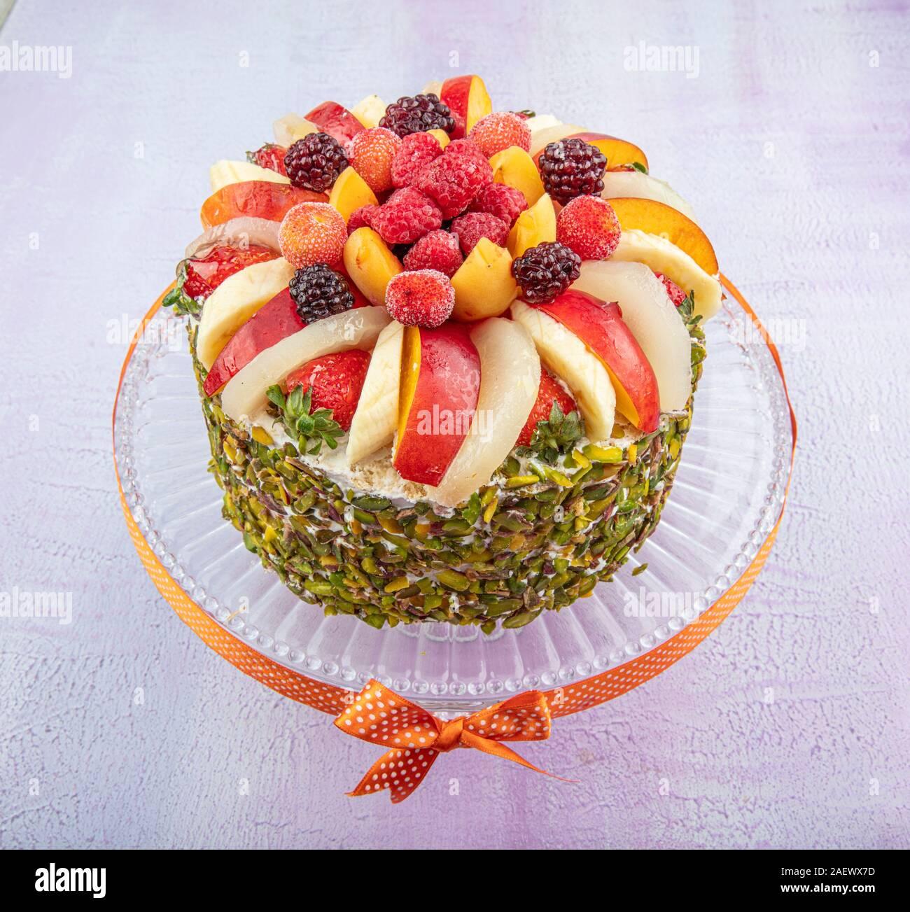 Sensational Mixed Fruit Cake Birthday Cake Birthday Cake With Fresh Fruits Personalised Birthday Cards Epsylily Jamesorg