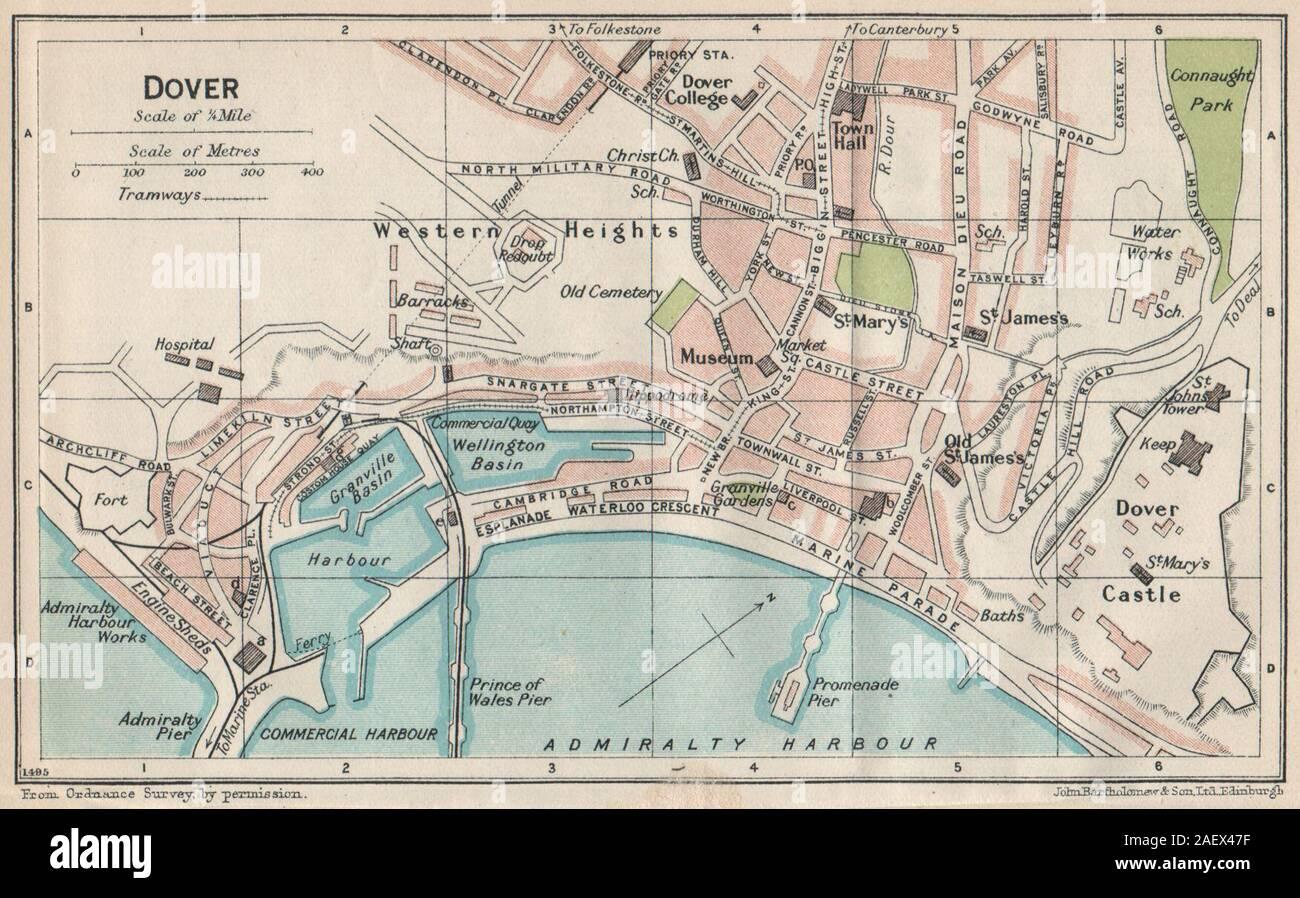 1906 Hull Street Plan Antique Map Atlas
