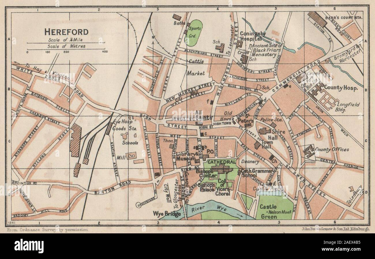 FOLKESTONE Kent 1930 old vintage chart Vintage town city map plan