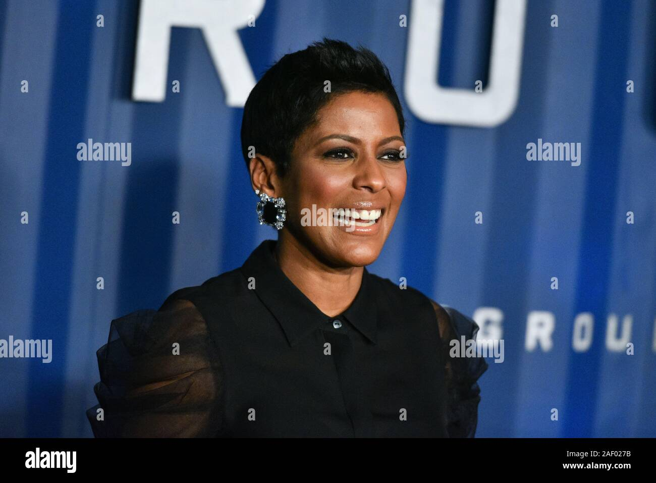 "Tamron Hall attends Netflix's ""6 Underground"" New York Premiere at The Shed on December 10, 2019 in New York City. Stock Photo"