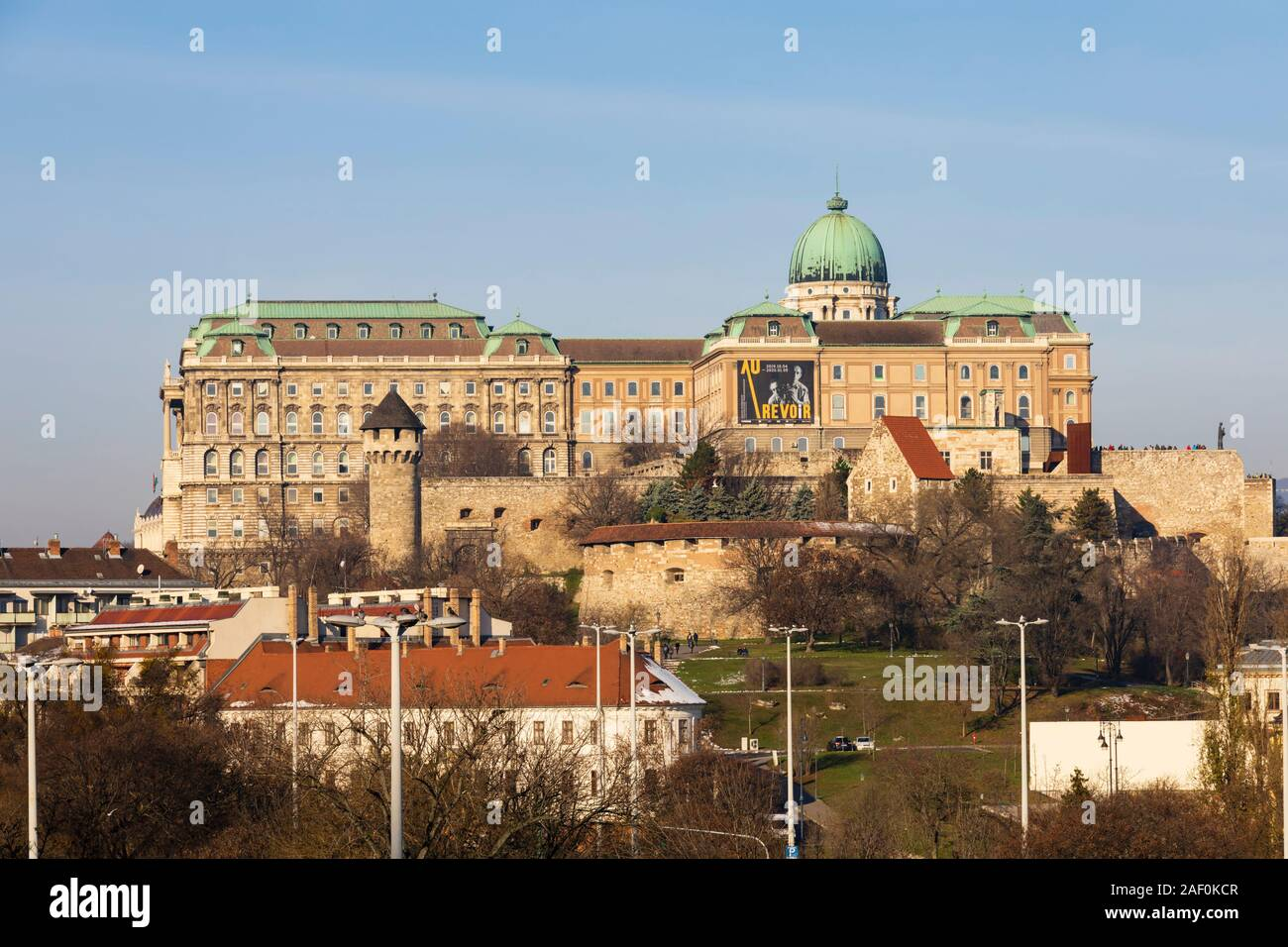 The Royal Palace, Buda Castle, Winter in Budapest, Hungary. December 2019 Stock Photo