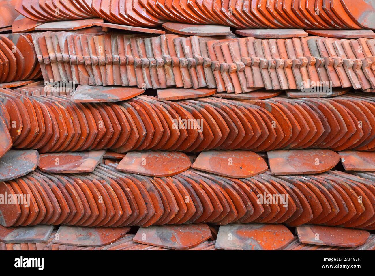 Stack Of Roof Tiles High Resolution Stock Photography And Images Alamy