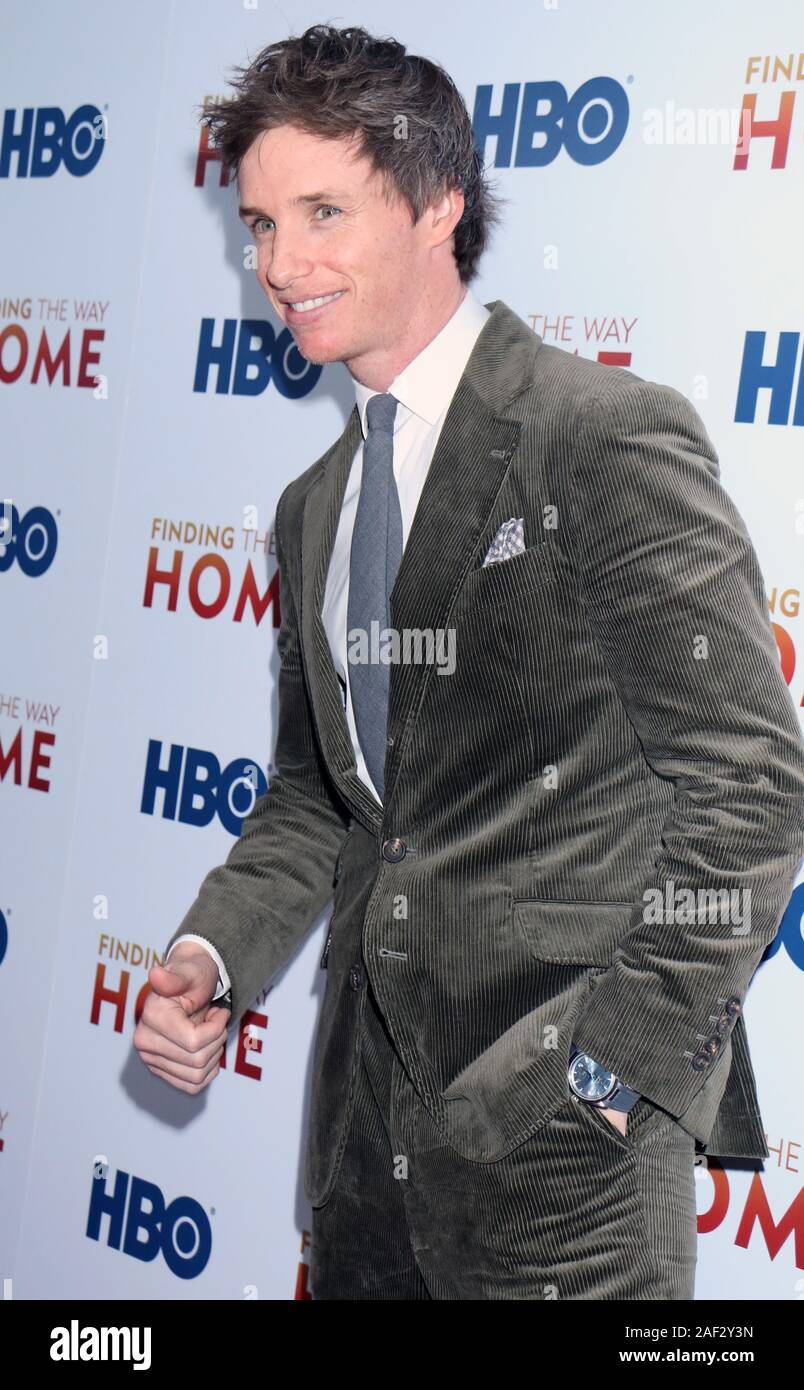 New York, USA. 11th December, 2019. Eddie Redmayne attend HBO Docunentary Fims presents premiere of Finding The Way Home at 30 Hudson Yards in NewYork. Credit: RW/MediaPunch Stock Photo