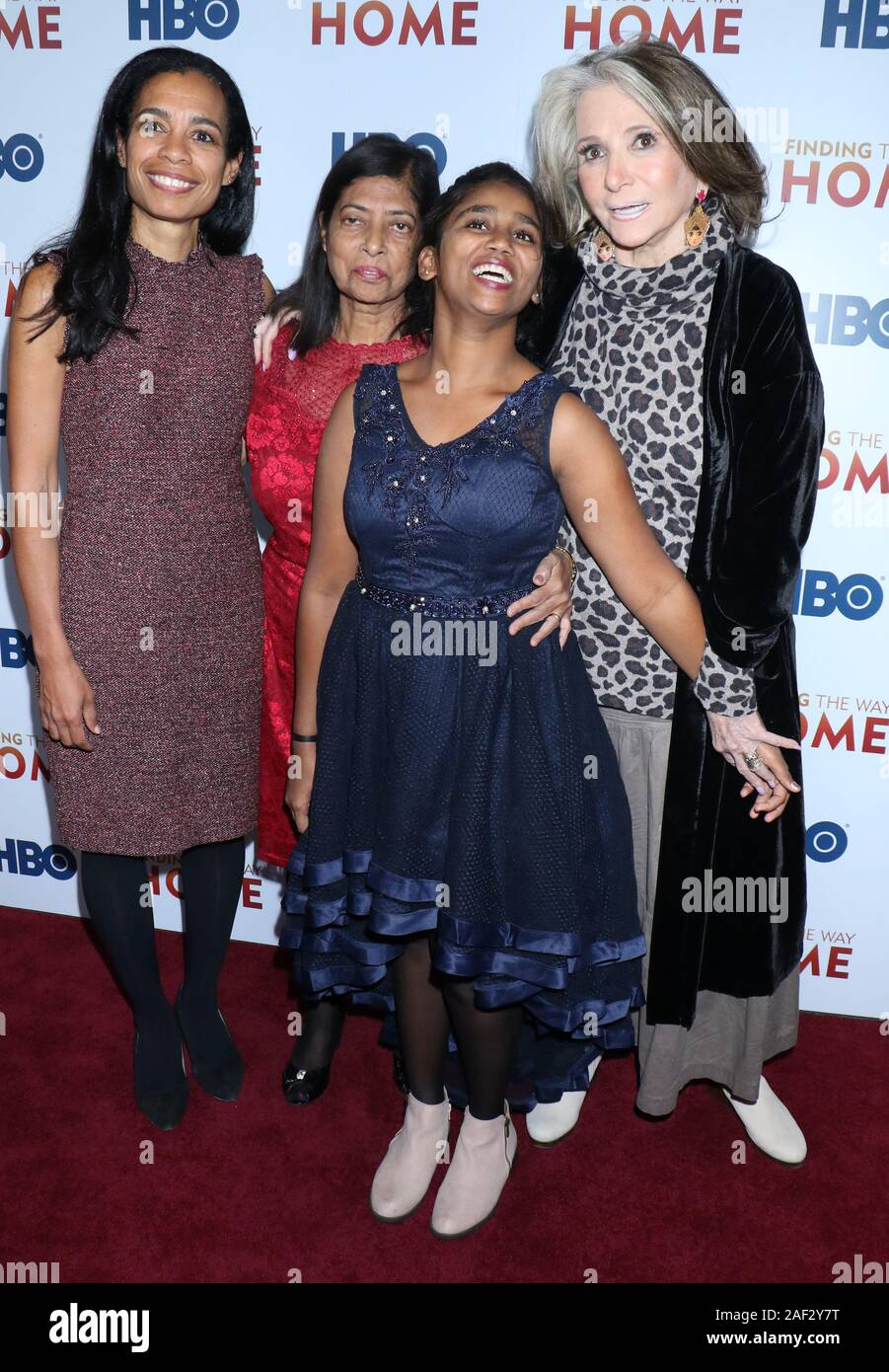New York, USA. 11th December, 2019. Jacqueline Glove, Maria Fernandez, Livya Dsouza, Sheila Nevins, attend HBO Docunentary Fims presents premiere of Finding The Way Home at 30 Hudson Yards in NewYork. Credit: RW/MediaPunch Stock Photo