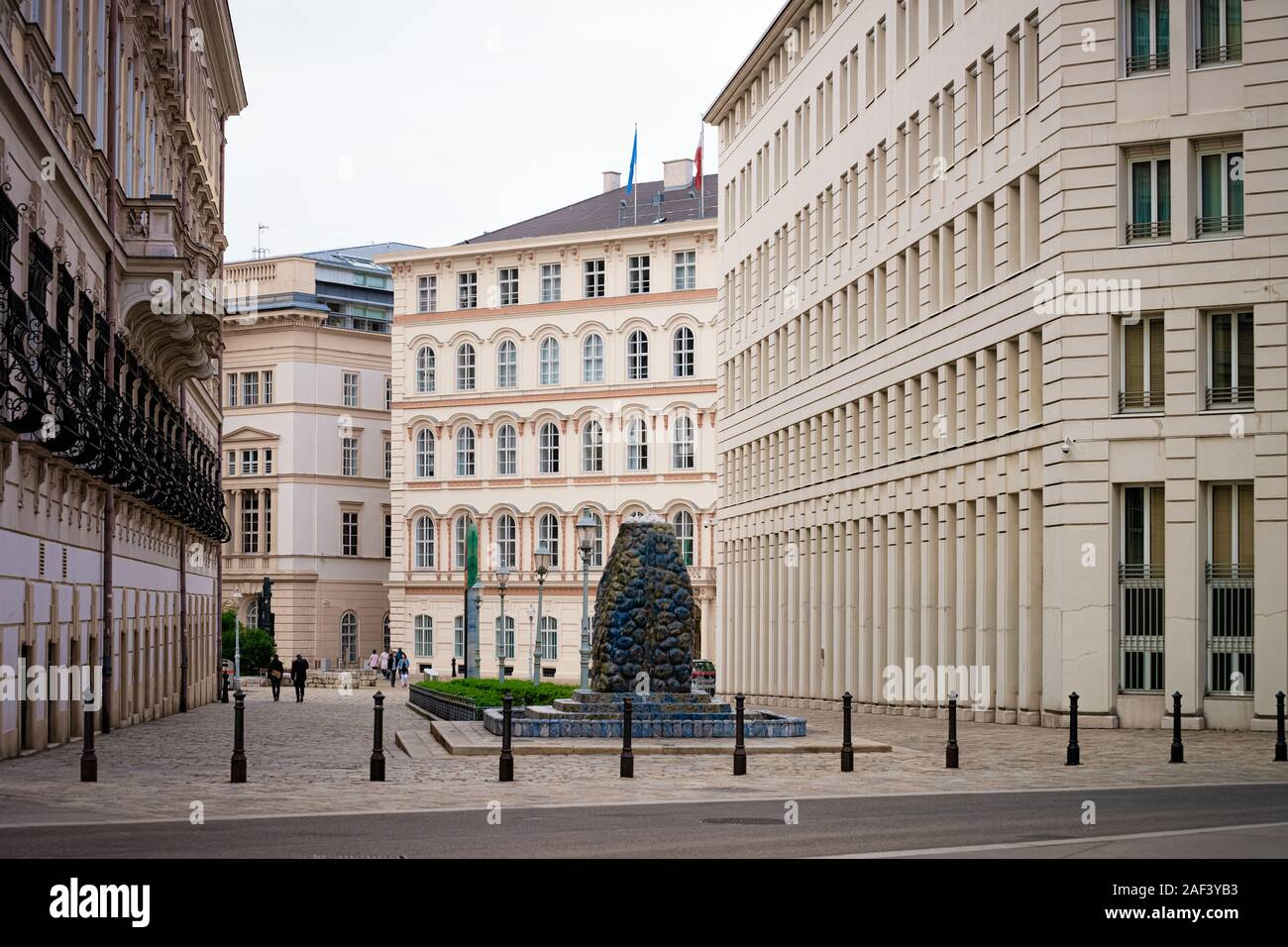 Austrian Federal Chancellery and Ministry of Interior in Vienna Austria Stock Photo