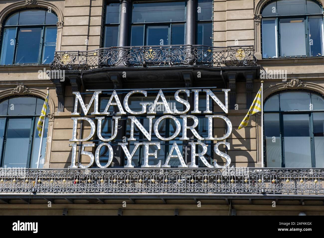 The Magasin Du Nord, a department store designed by Albert Jensen In Copenhagen, Denmark Stock Photo