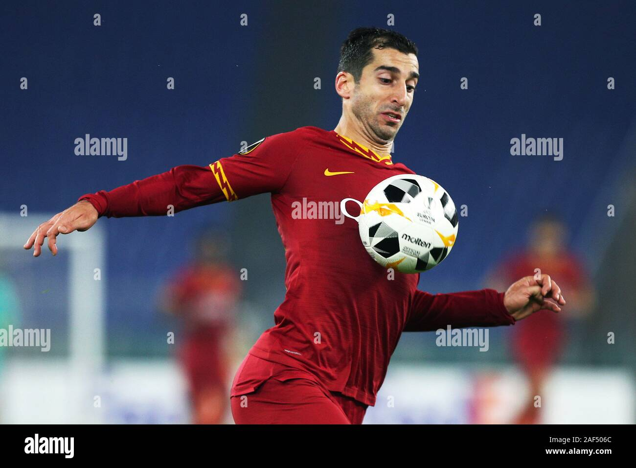 Henrik Mkhitaryan of Roma in action during the UEFA Europa League, Group J football match between AS Roma and Wolfsberg AC on December 12, 2019 at Stadio Olimpico in Rome, Italy - Photo Federico Proietti/ESPA-Images Stock Photo