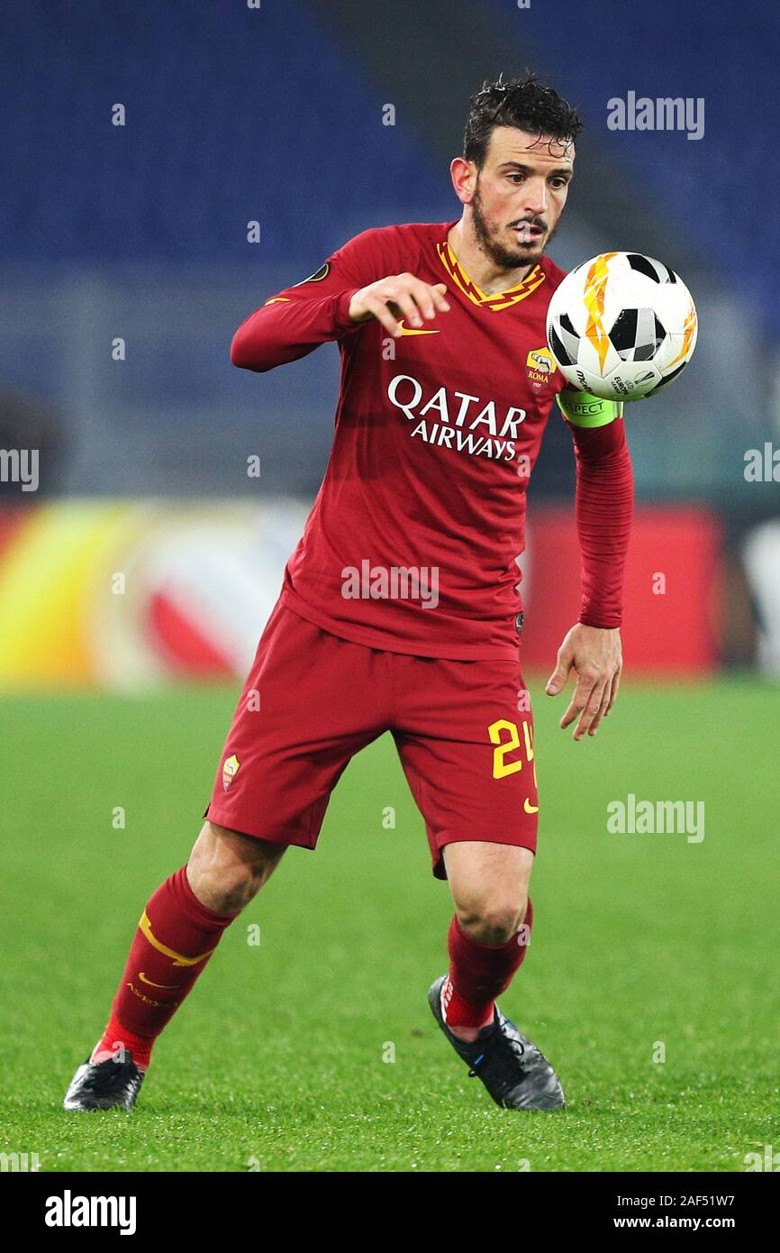 Alessandro Florenzi of Roma in action during the UEFA Europa League, Group J football match between AS Roma and Wolfsberg AC on December 12, 2019 at Stadio Olimpico in Rome, Italy - Photo Federico Proietti/ESPA-Images Stock Photo