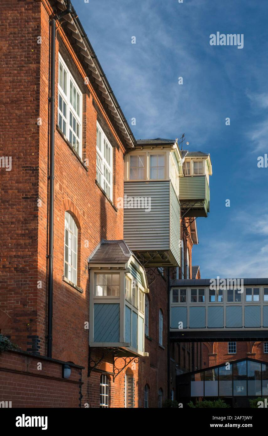 Ancient warehouse in the medieval market town of  Faversham, Kent, UK Stock Photo