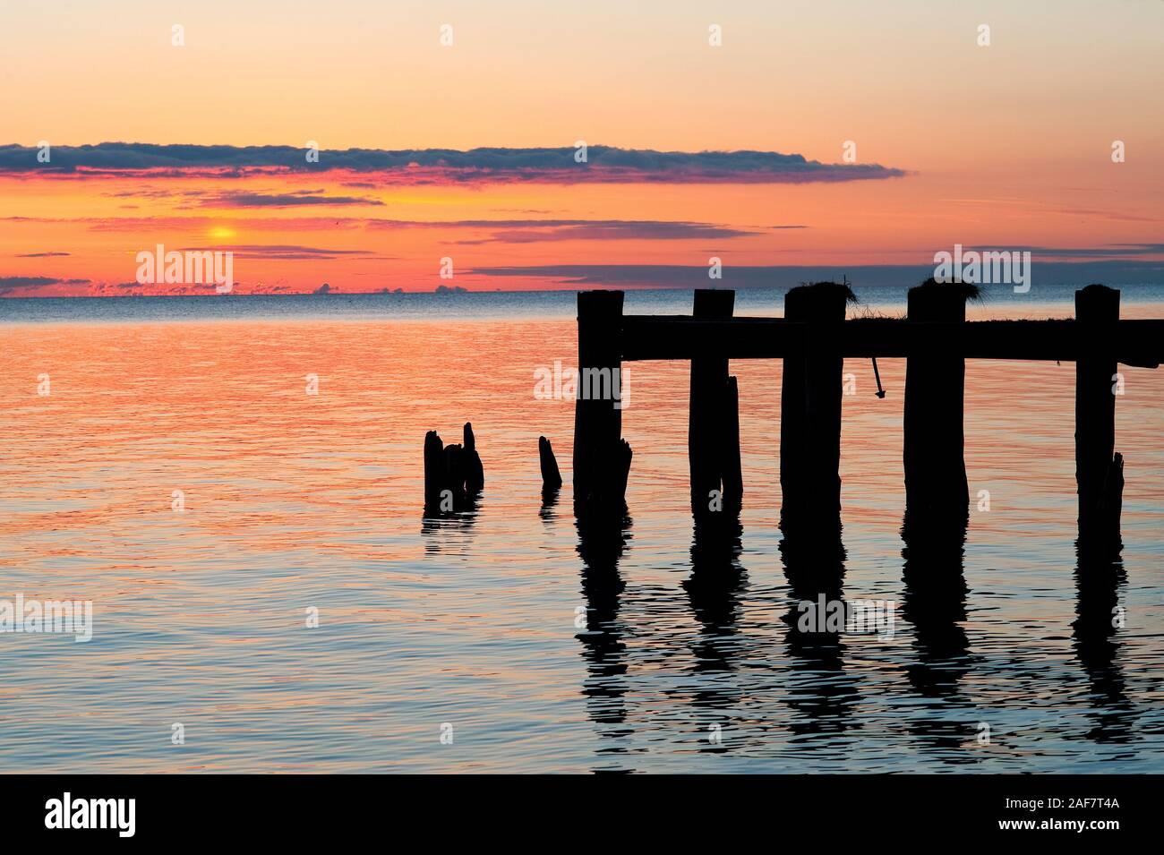 Lake Ontario shoreline near Grimby, Ontario Stock Photo