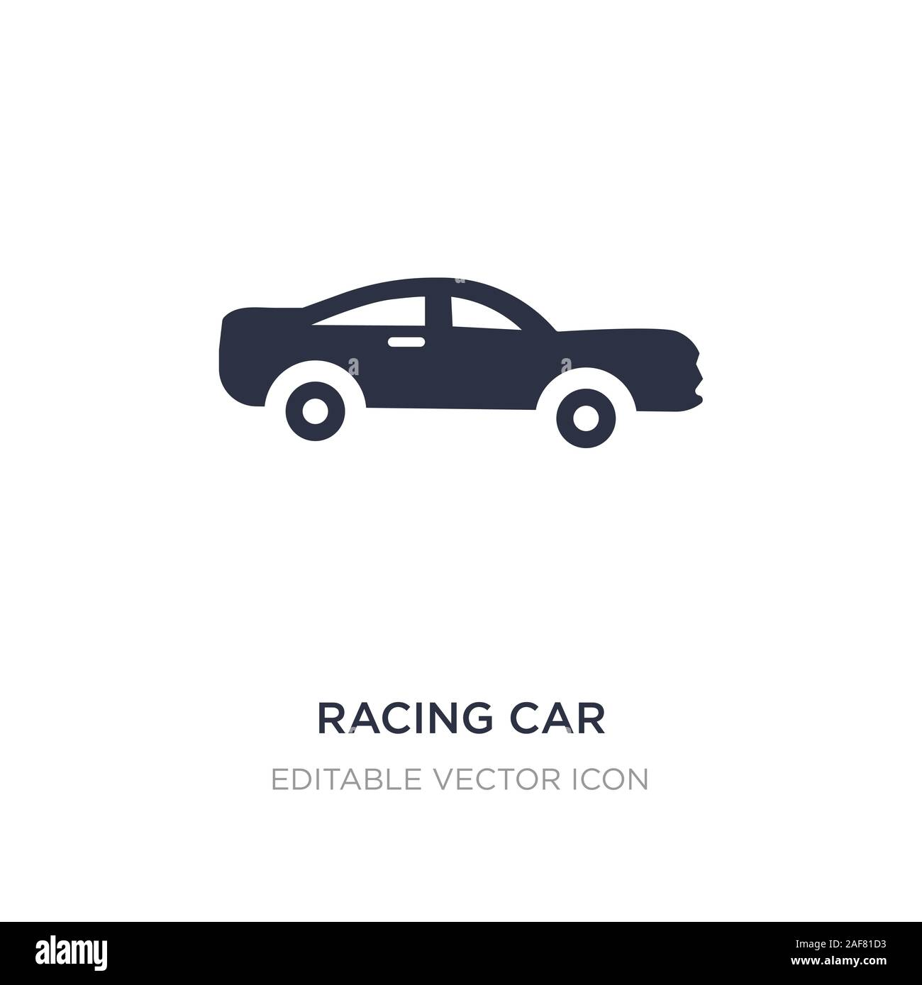Racing Car Icon On White Background Simple Element Illustration From Transportation Concept Racing Car Icon Symbol Design Stock Vector Image Art Alamy