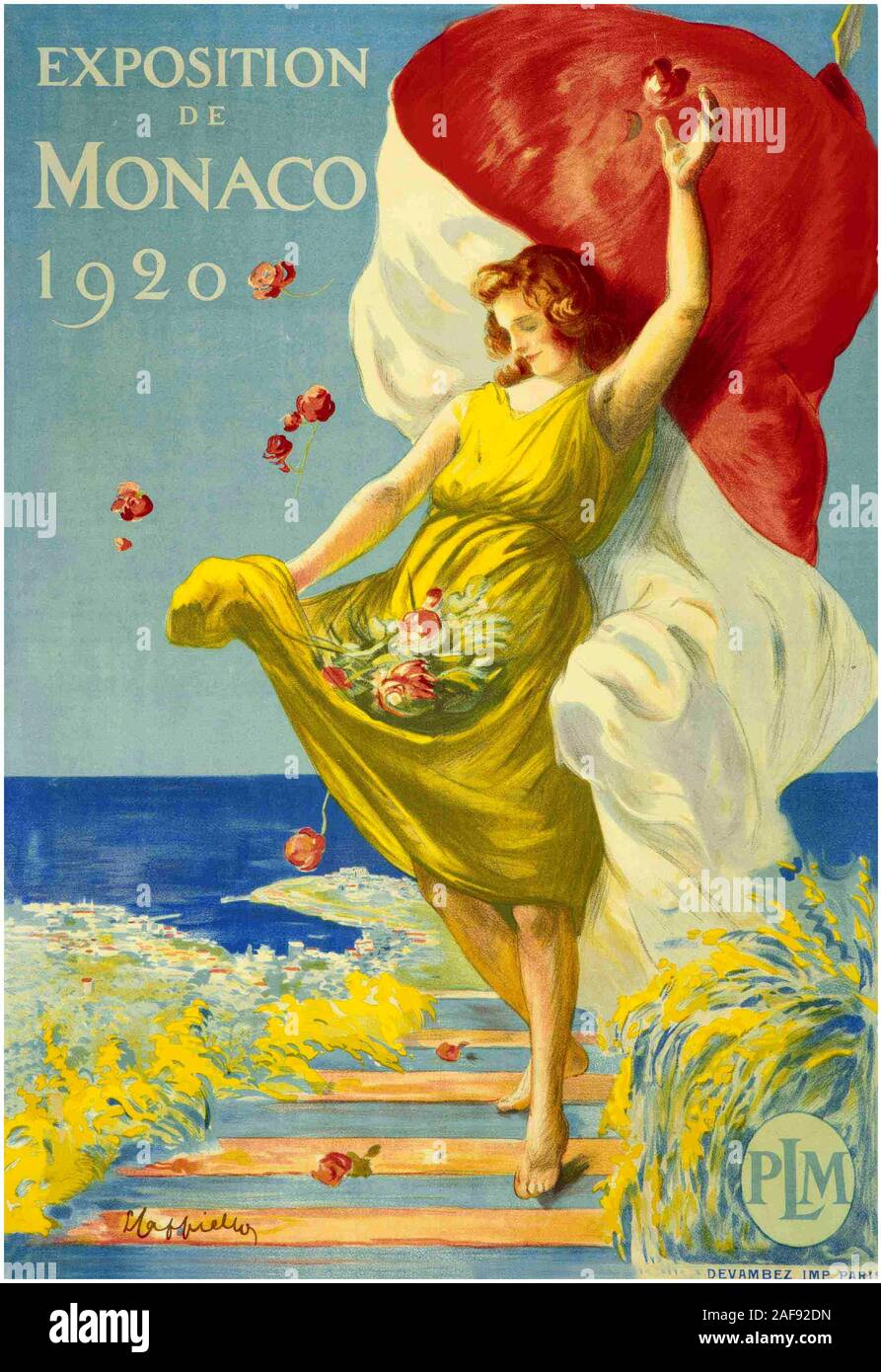 Monaco 0070 Vintage Travel Art Poster