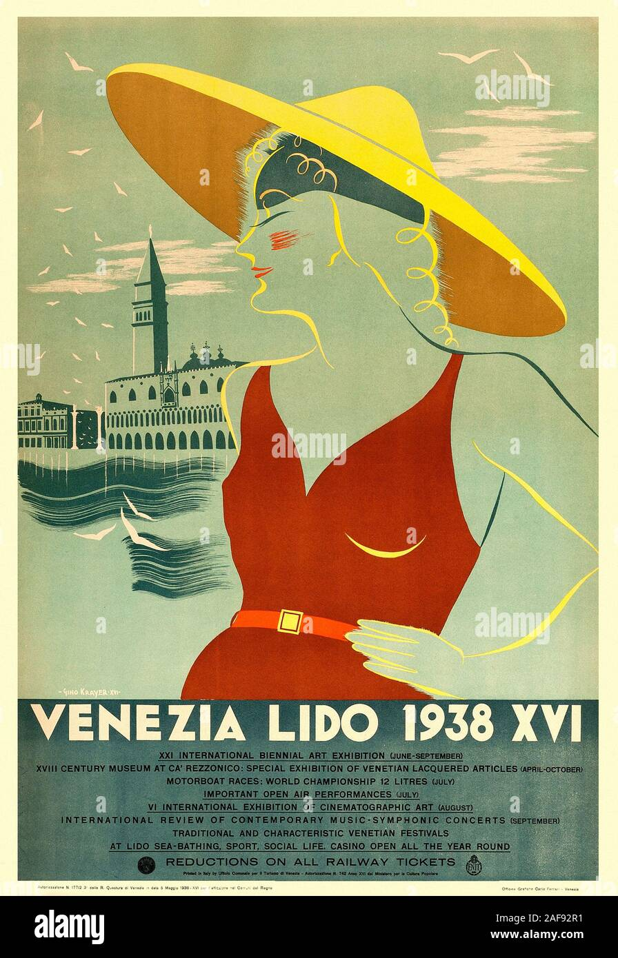 Art Deco Travel Posters Lovely Vintage Retro Holiday Tourism Unique Venice Italy