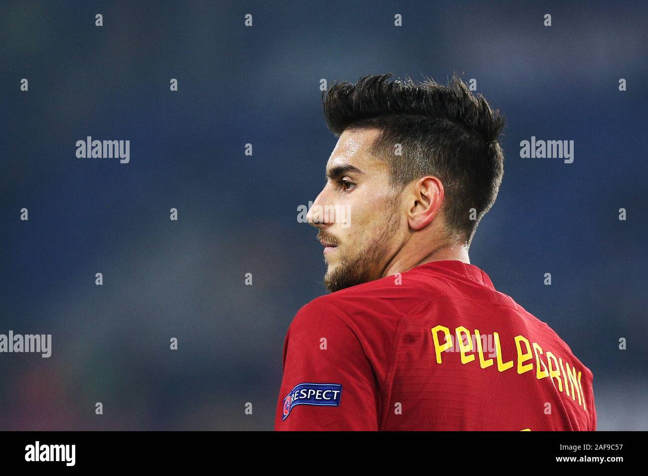Lorenzo Pellegrini of Roma reacts during the UEFA Europa League, Group J football match between AS Roma and Wolfsberg AC on December 12, 2019 at Stadio Olimpico in Rome, Italy - Photo Federico Proietti/ESPA-Images Stock Photo