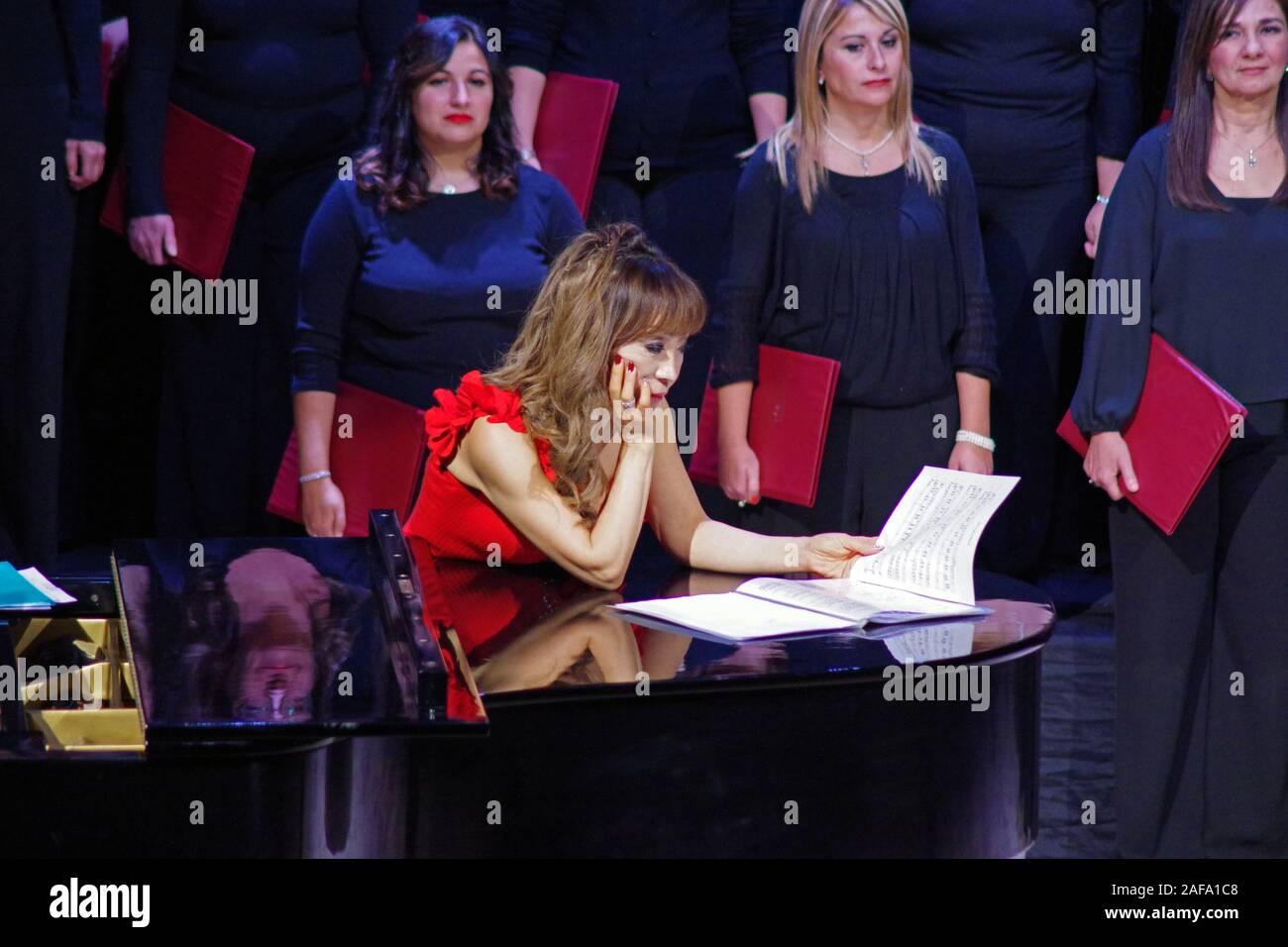 Sumi Jo, South Korean soprano in concert in Sassari, Sardinia, Italy , 2019 December, 12. Stock Photo