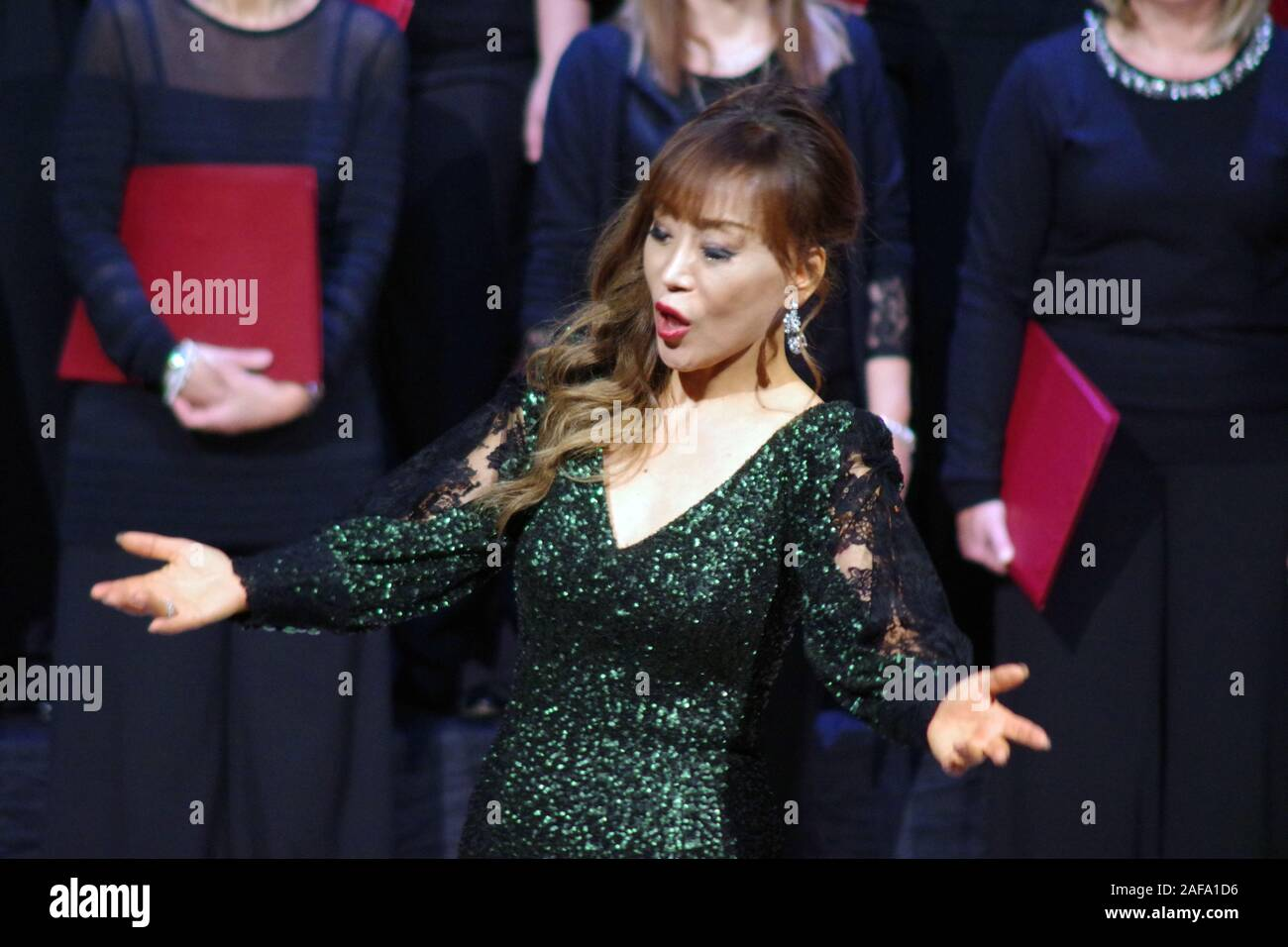 Sumi Jo, South Korean soprano in concert in Sassari, Sardinia, Italy , 2019 December, 12. Stock Photo