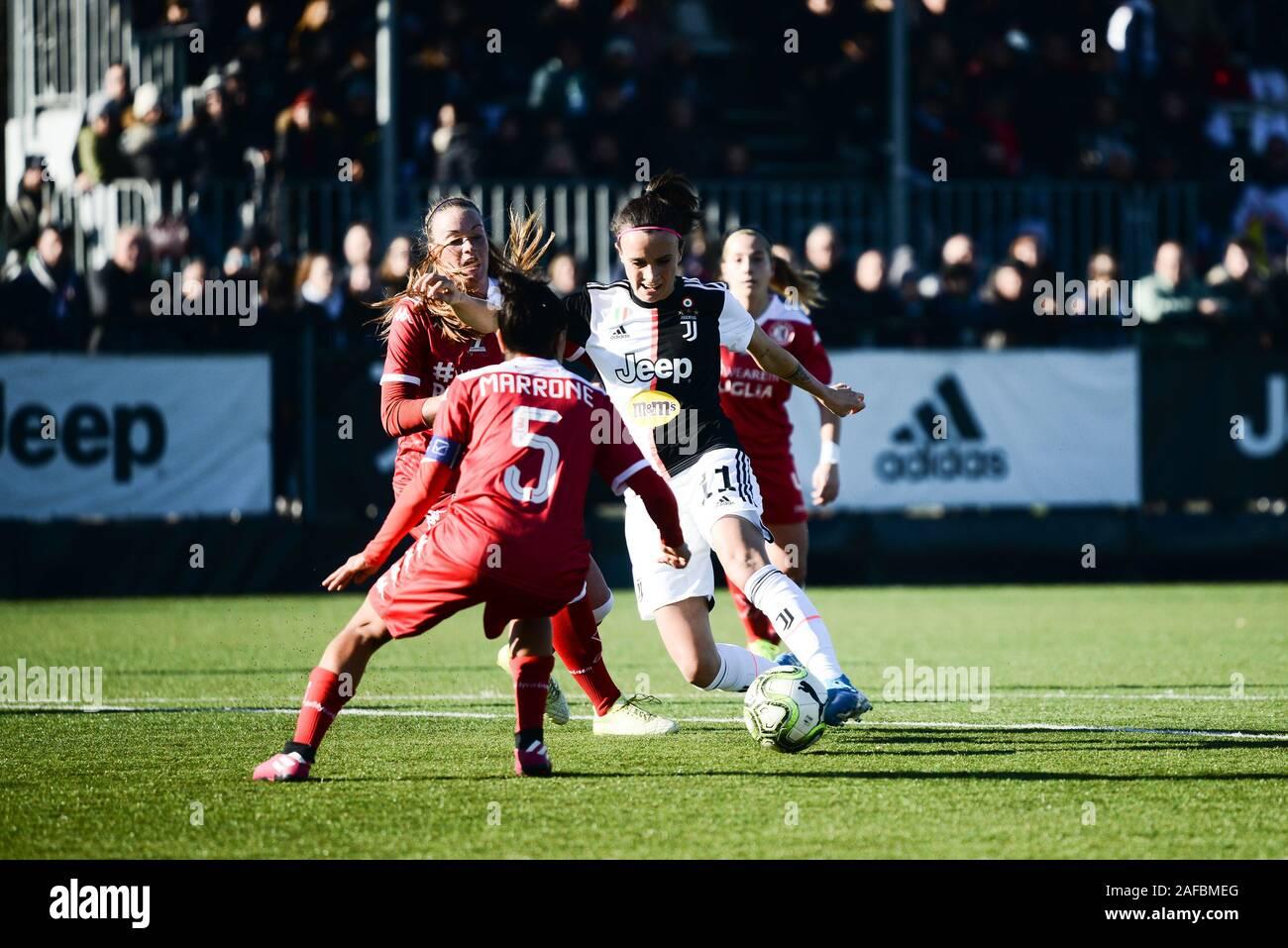 Barba Bonansea of Juventus in action during the Women Serie A match between Juventus and Bari Pink. Juventus won 2-0 over Bari Pink. In Vinovo at Juve Stock Photo