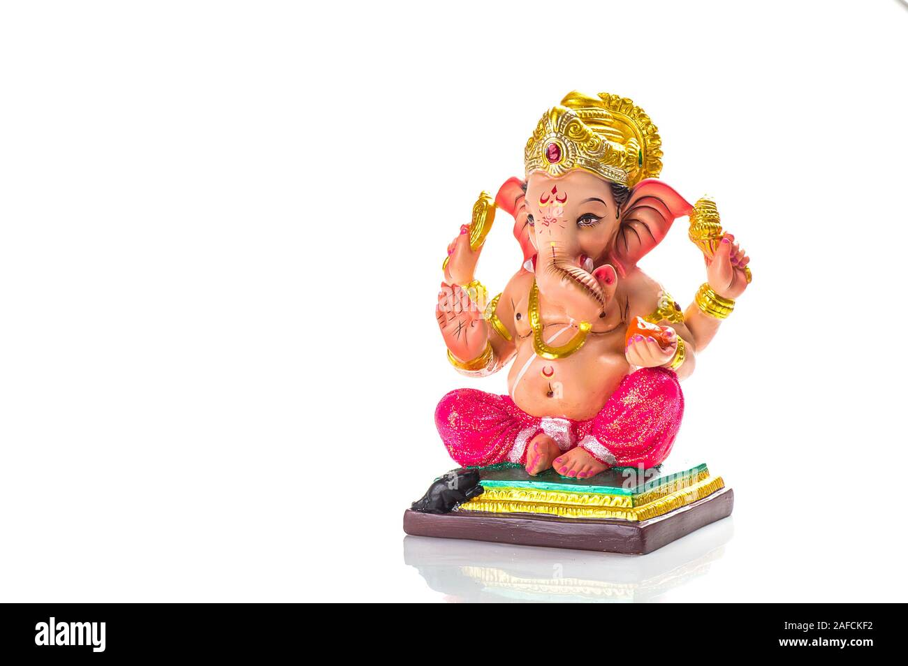 Ganesha Idol On White Background High Resolution Stock Photography