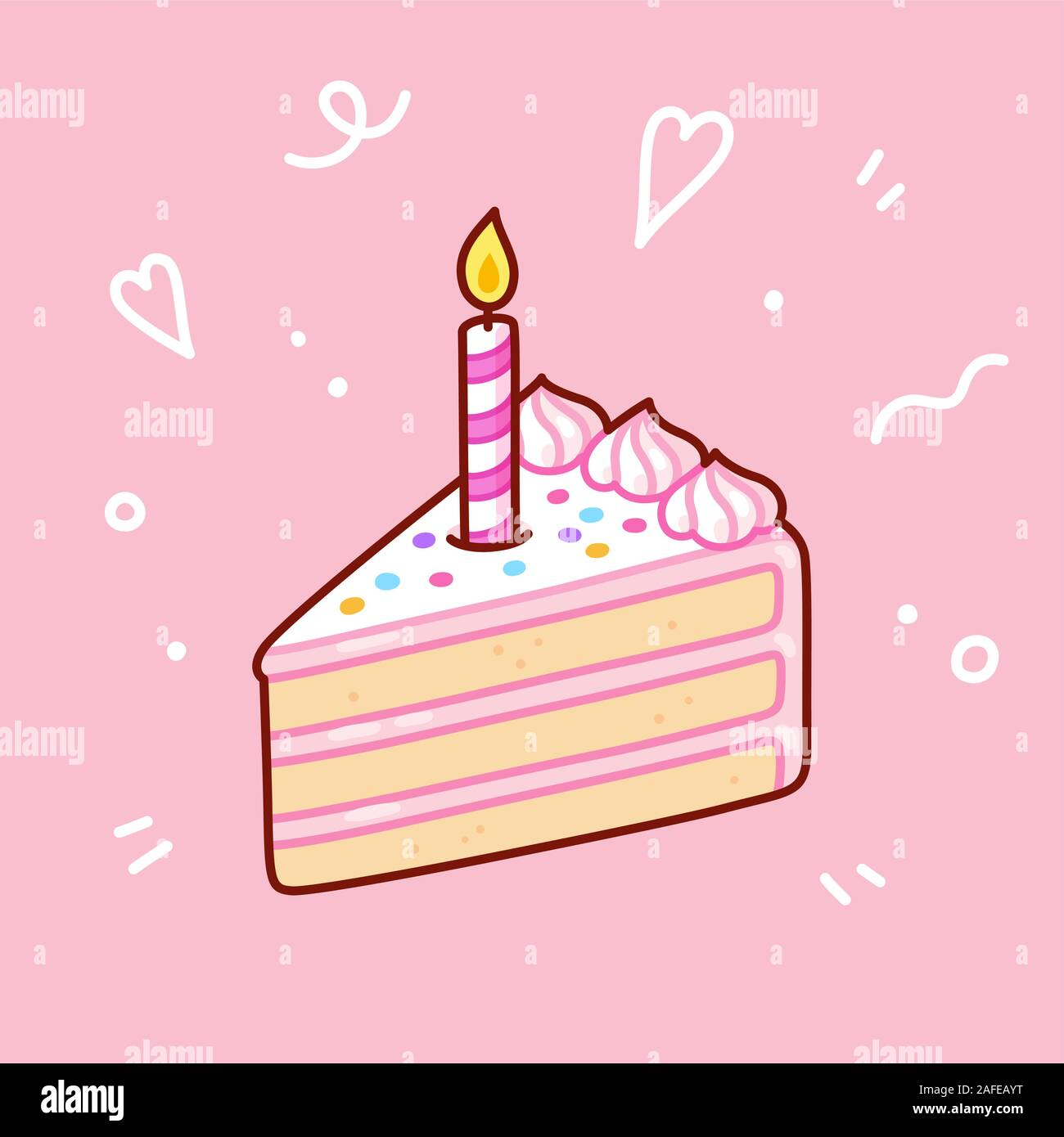 Sensational Slice Of Birthday Cake With Candle Happy Birthday Greeting Card Funny Birthday Cards Online Inifofree Goldxyz