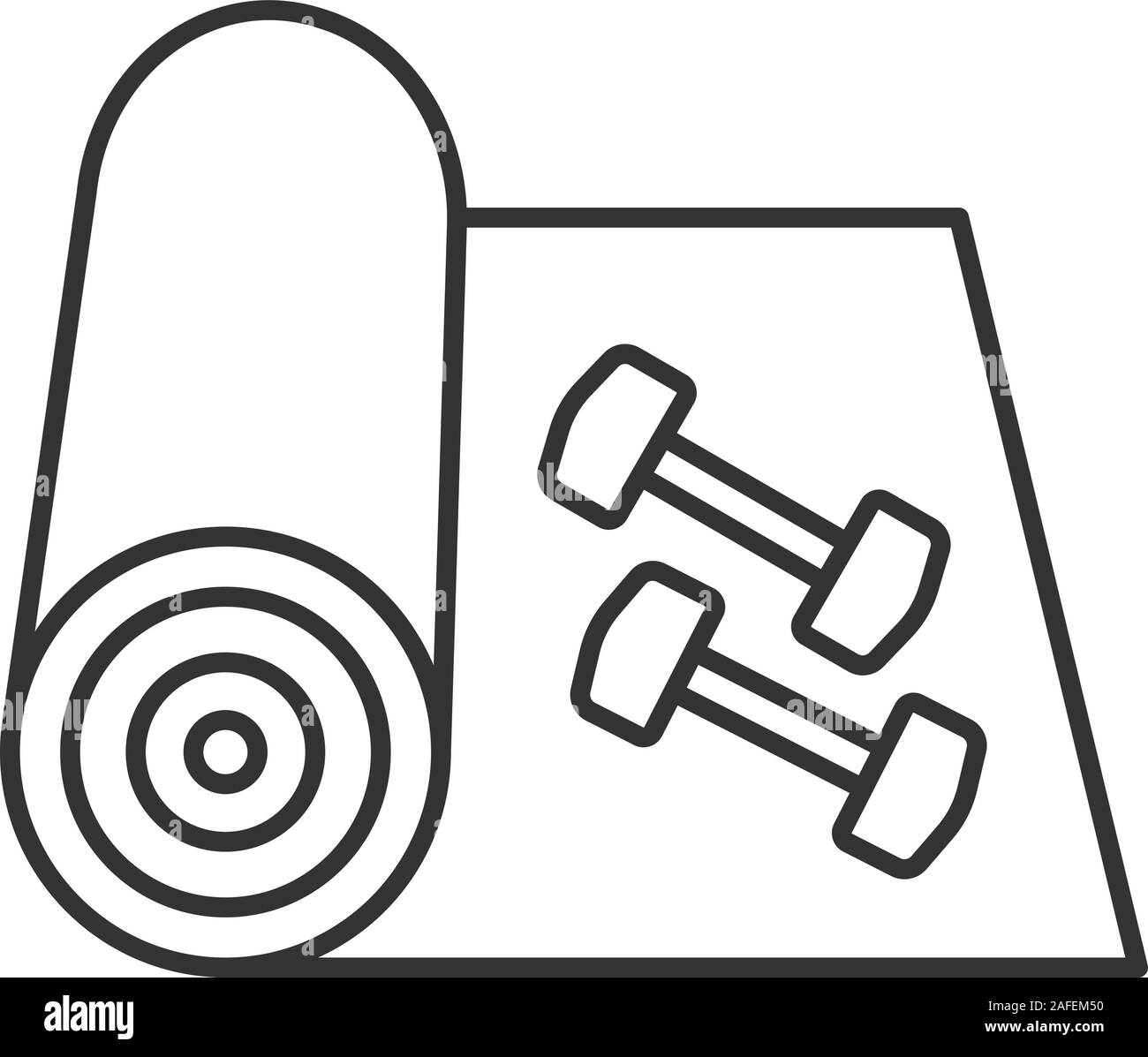 Yoga Mat Line Icon High Resolution Stock Photography And Images Alamy