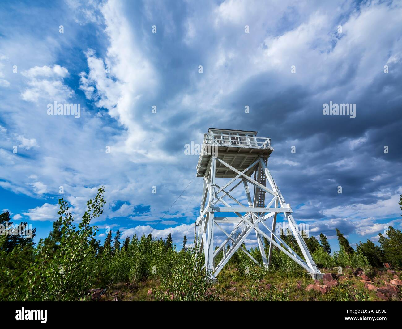 Ute Mountain Fire Tower National Historical Site, Ashley National Forest, Utah. Stock Photo