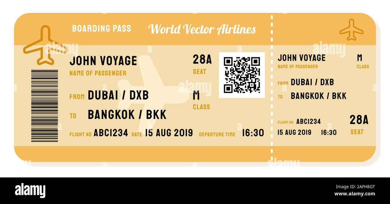 Vector boarding pass. Modern airline ticket for a flight Stock Vector Image  & Art - Alamy