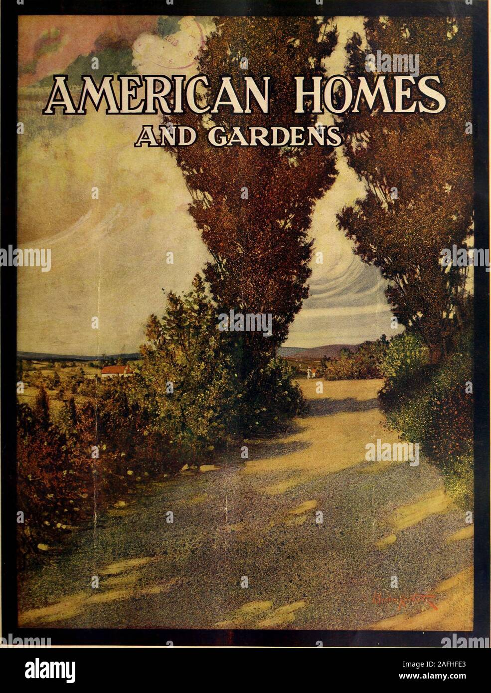 . American homes and gardens. all the rest of yourmoney will go for style and correctness. Unless your choice is correct, your money isworse than wasted. Pay 25 cents for the Vogue Millinery Number and ensure yourselfagainst wasting a single penny of your Autumn hat money. In your home, far from the confusion of the milliner, Vogue will spread before you not a few hats fromyour local stores but a splendid display of new models from the greatest designers in the world. Buy yourcopy to-day—and at the same time ask the newsdealer to reserve for you a copy of the Forecast of Fall Fashions Number ( Stock Photo