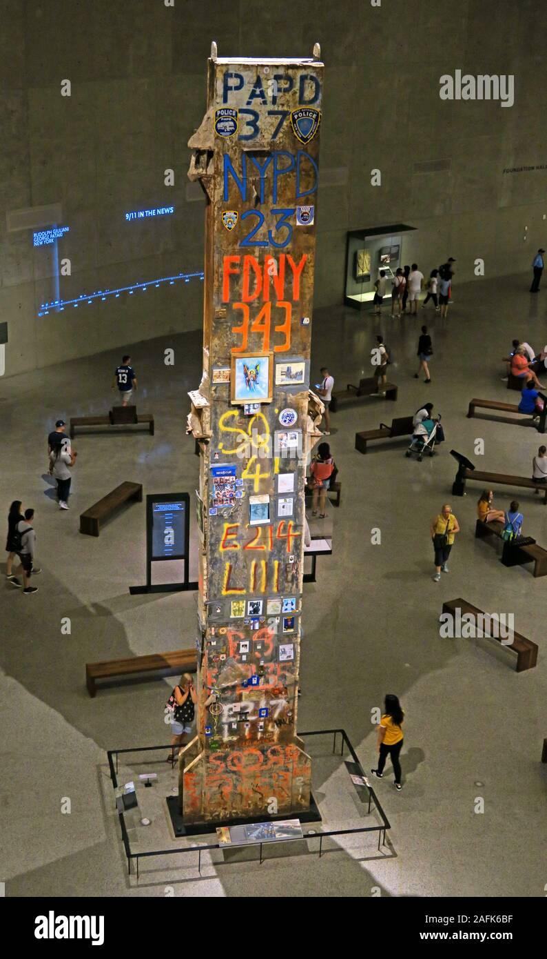 09/11 - 0911 - National September 11 Memorial Museum,One World Trade Center,Lower Manhattan,New York City, NY, USA - Ground Zero Stock Photo