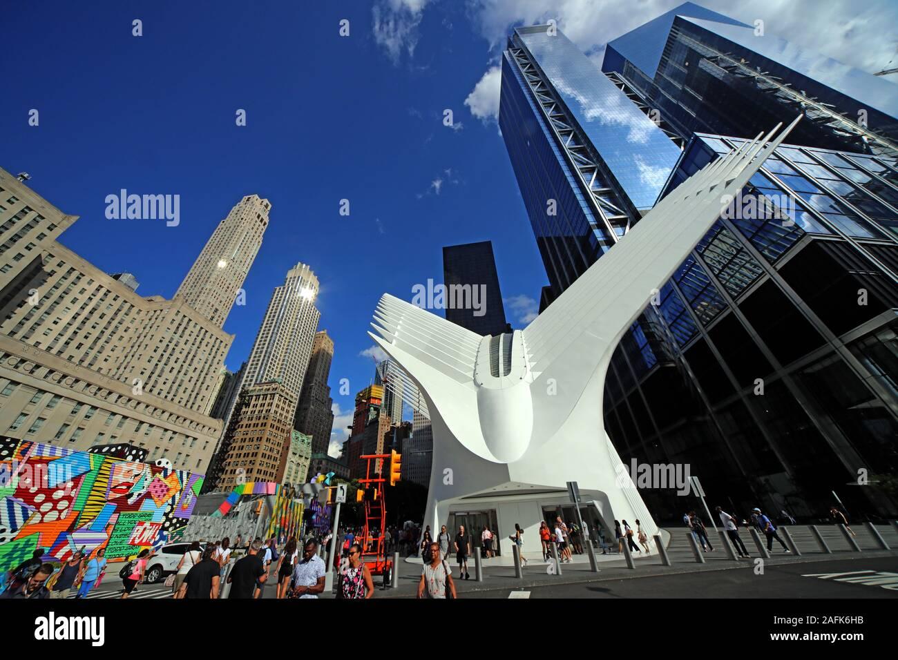 One World Trade Center, Manhattan, New York City, NY, USA, North America - rebuilt 2016 Stock Photo