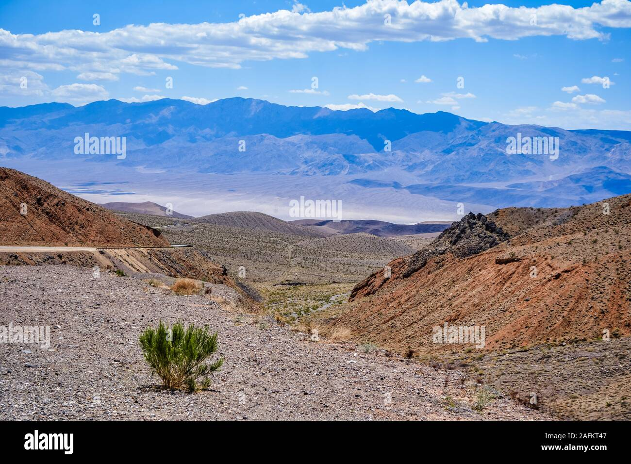 The trail at Towne Pass on the west side of Death Valley National Park, United States Stock Photo