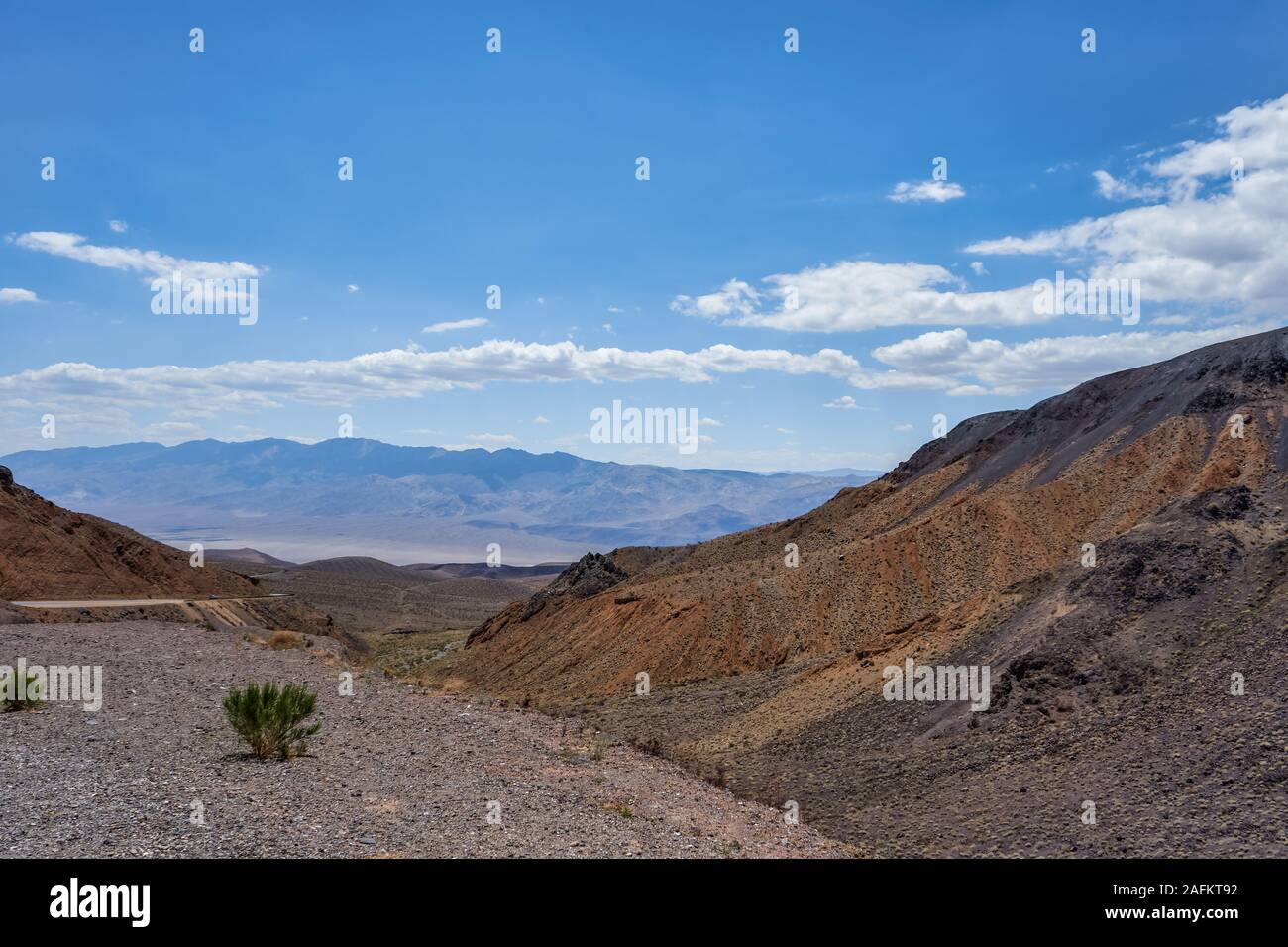 The trail at Towne Pass that is located between Stovepipe Wells and Panamint Valley, United States Stock Photo