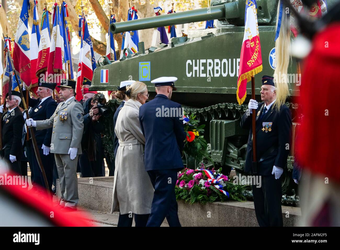 Celebration of the 75th anniversary of the Liberation, Strasbourg, Alsace, France Stock Photo