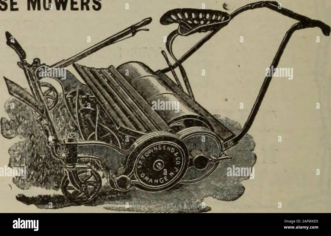 . Hardware merchandising August-October 1912. TOWNSEND MOWERS HAND MOWERS and HORSE MOWERS All Our Hand MowersAre Ball Bearing SENT ON THEIR MERITS Write for Catalog S. P. Townsend ®L Co. ORANGE, N. J.. Be Careful!! The hardwareman is making a great mistake if he overlooks the HAMILTON RIFLE Stock Photo