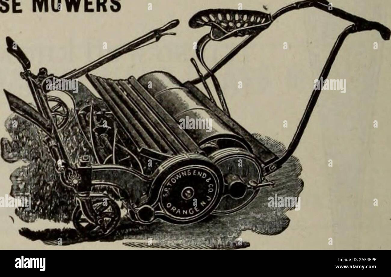 . Hardware merchandising August-October 1912. TOWNSEND MOWERS HAND MOWERS and HORSE MOWERS All Our Hand MowersAre Ball Bearing SENT ON THEIR MERITS Write for Catalog S. P. Townsend CEX Co. ORANGE. N. J.. HAMILTON (cSL) RIFLES Sell Well and Bring Good Profits Stock Photo