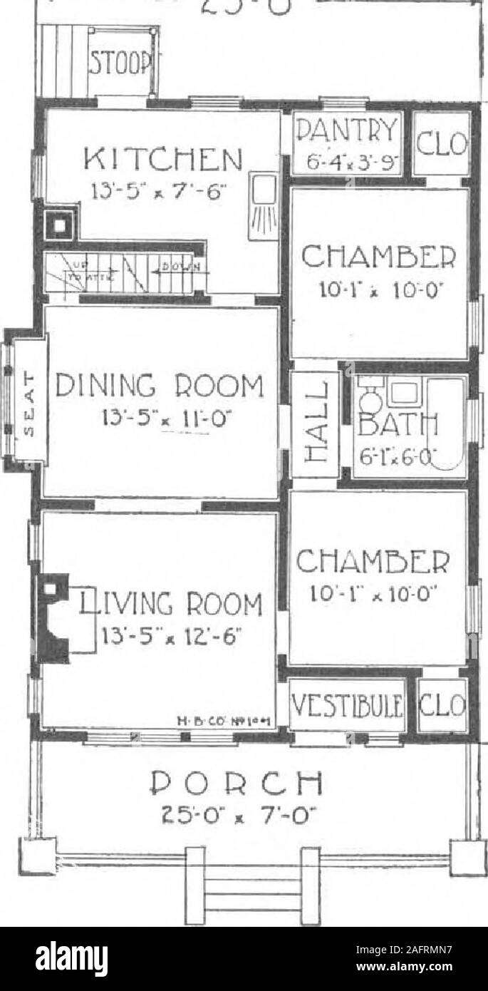 A Plan Book Of Harris Homes Harris Home No L 1001 The Size25 Ft X 36 Ft 5 Roomsand Attic T Here Is A Wealth Of Character To This Attractive Bungalow Both