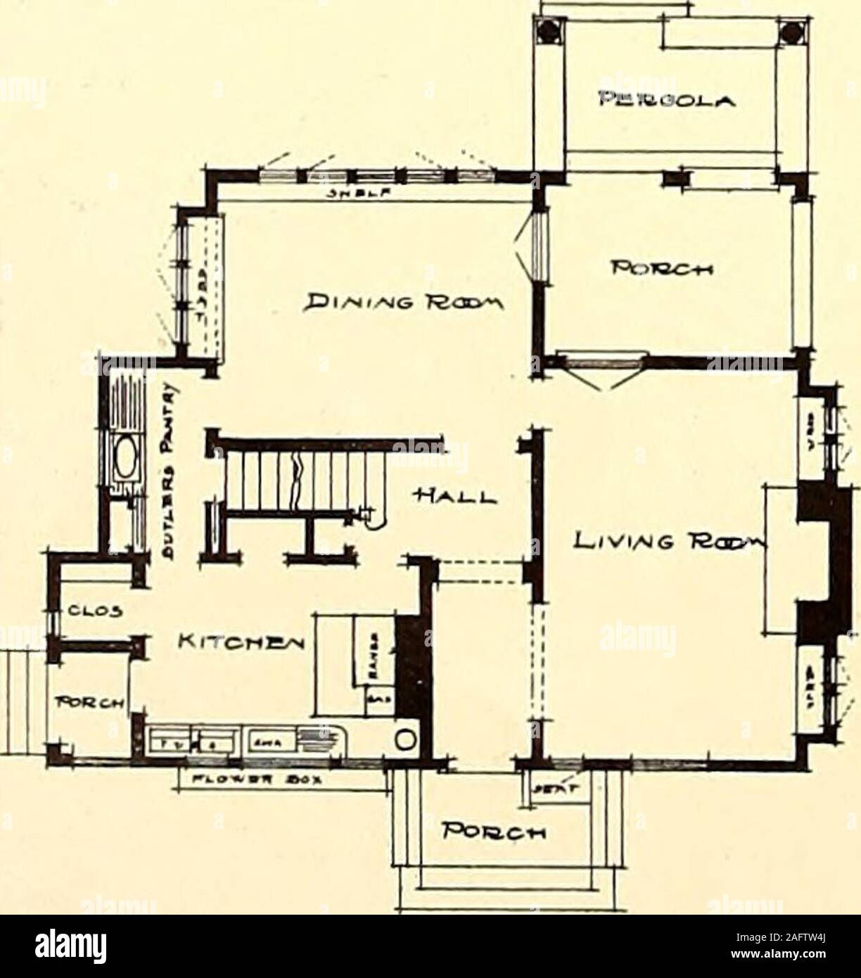 American Homes And Gardens Use Extends The Hori Zontal Lines Which Are So Essential The Floor Plan Shows An Interior Which Is Spacious And Ex Ceedingly Pleasant And Comfortable At Bridgeport Connecticut Thehome Of